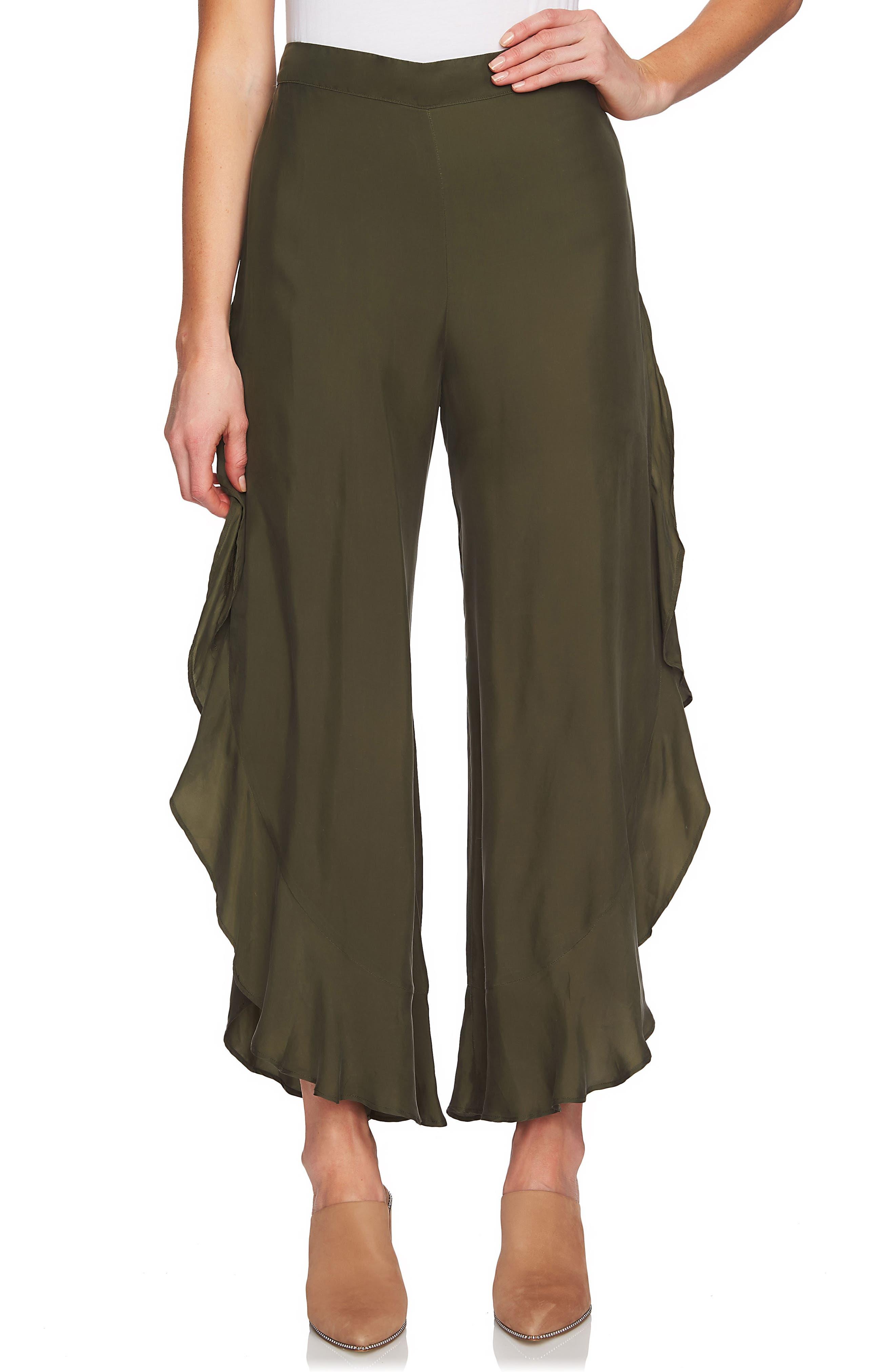 1.STATE Ruffle Wide Leg Pants
