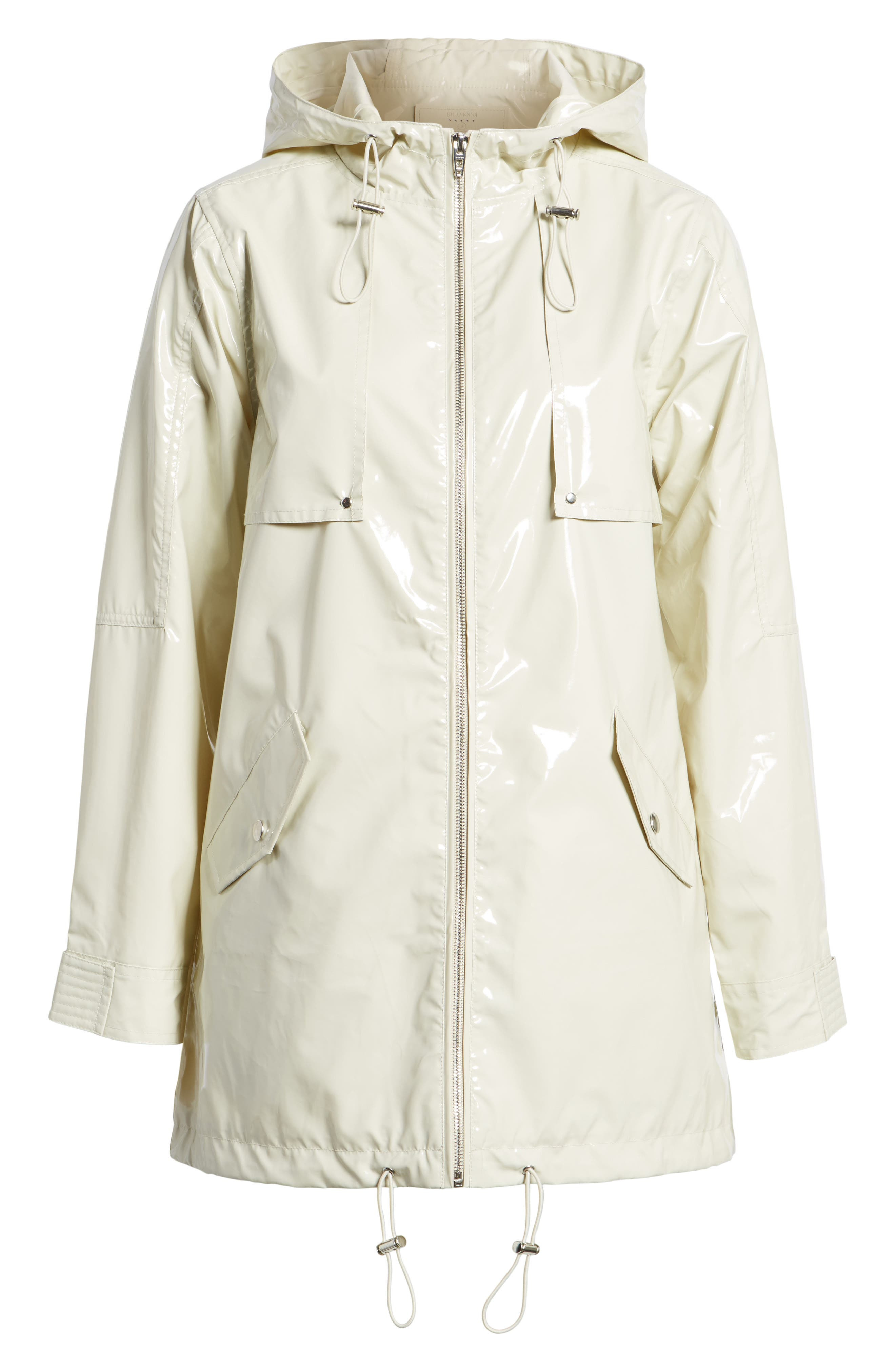 Patent Parka,                             Alternate thumbnail 7, color,                             White Chocolate Bone