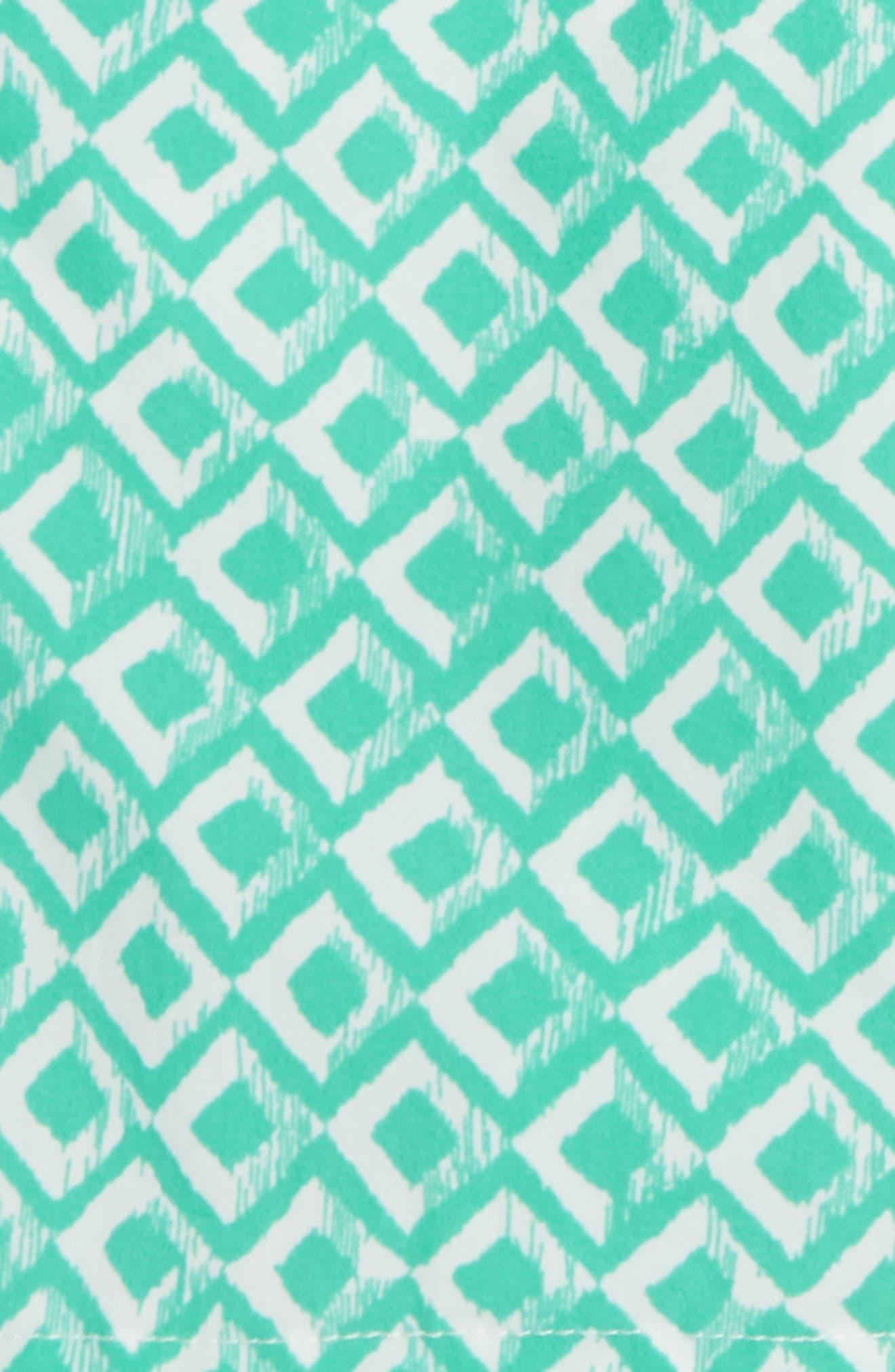 Drippy Diamond Swim Trunks,                             Alternate thumbnail 2, color,                             Wave