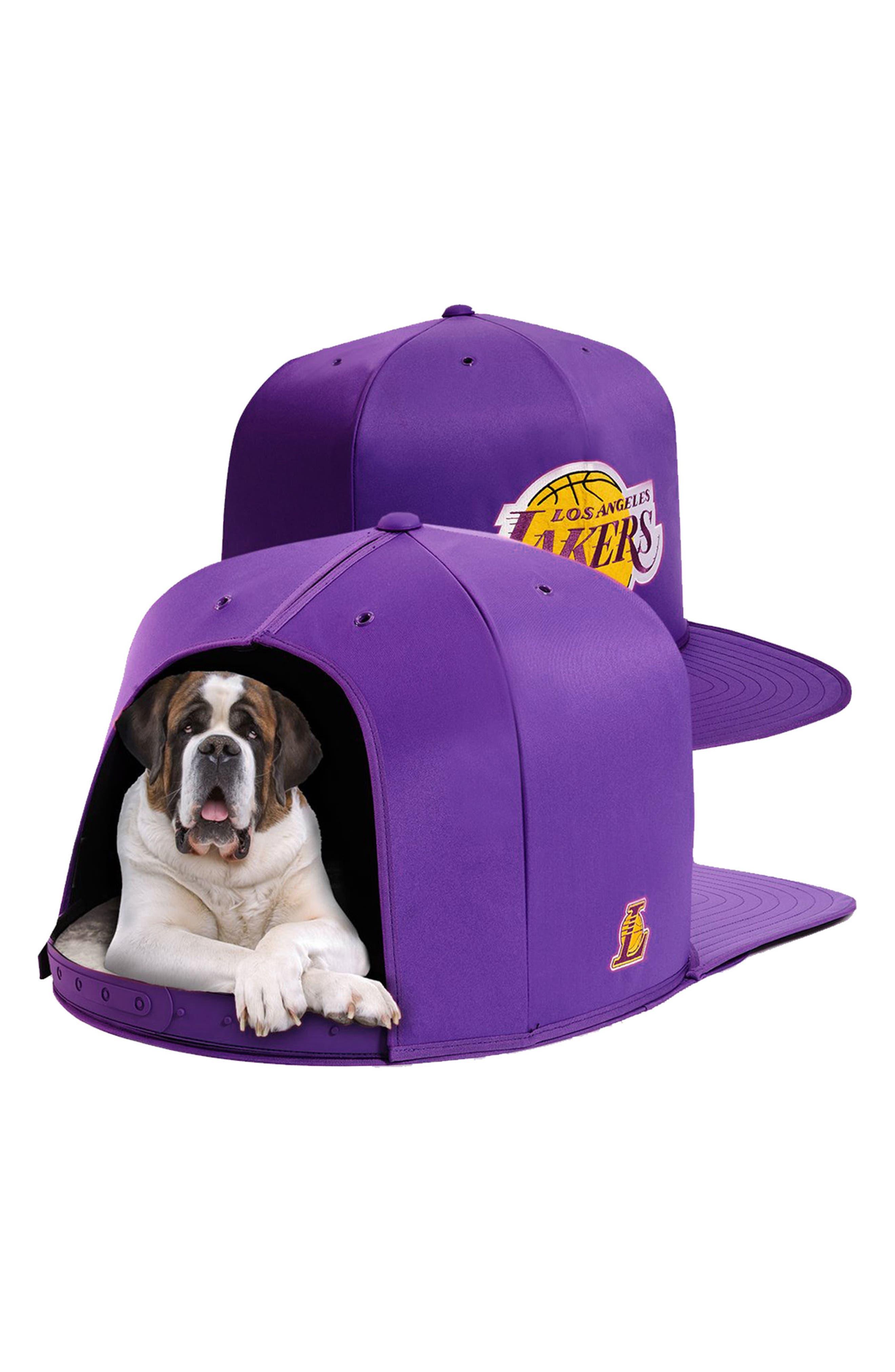 Los Angeles Lakers Pet Bed,                             Alternate thumbnail 4, color,                             Purple