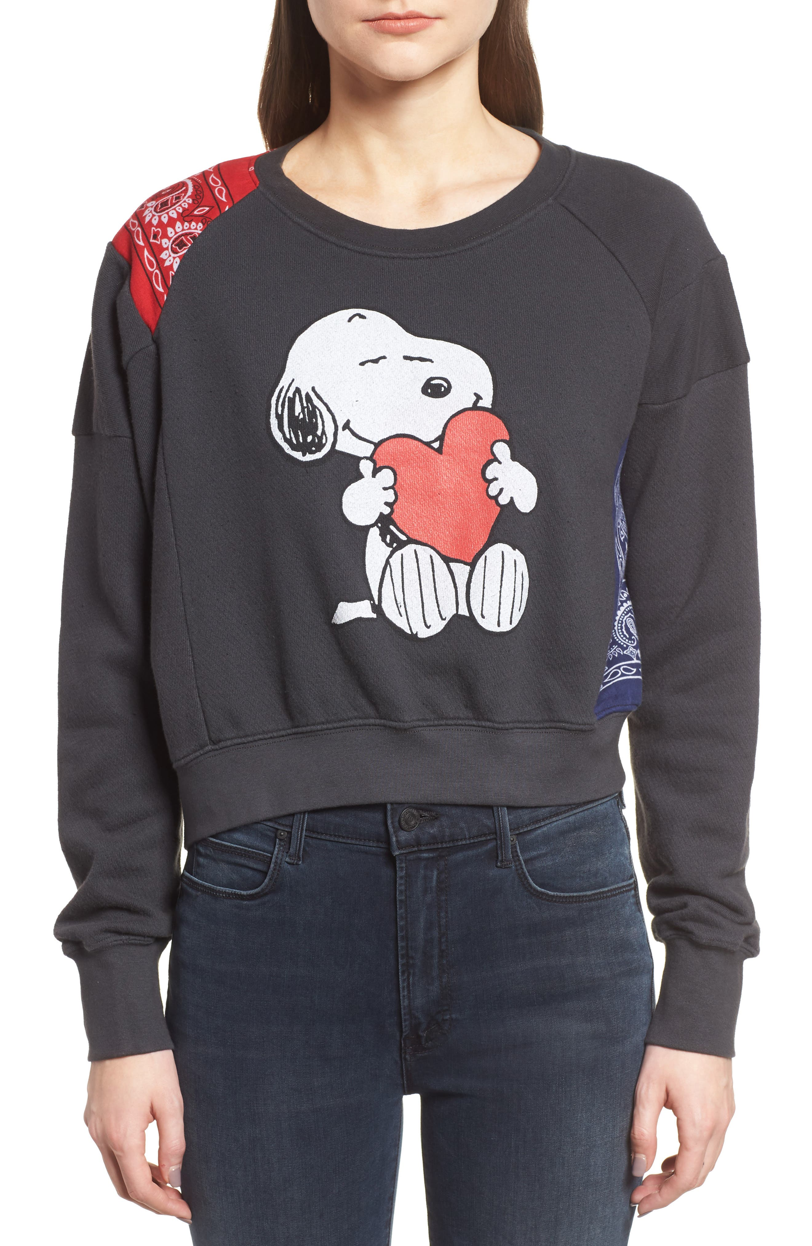 Alternate Image 2  - Daydreamer Snoopy Bandana Panel Sweatshirt (Limited Edition) (Nordstrom Exclusive)