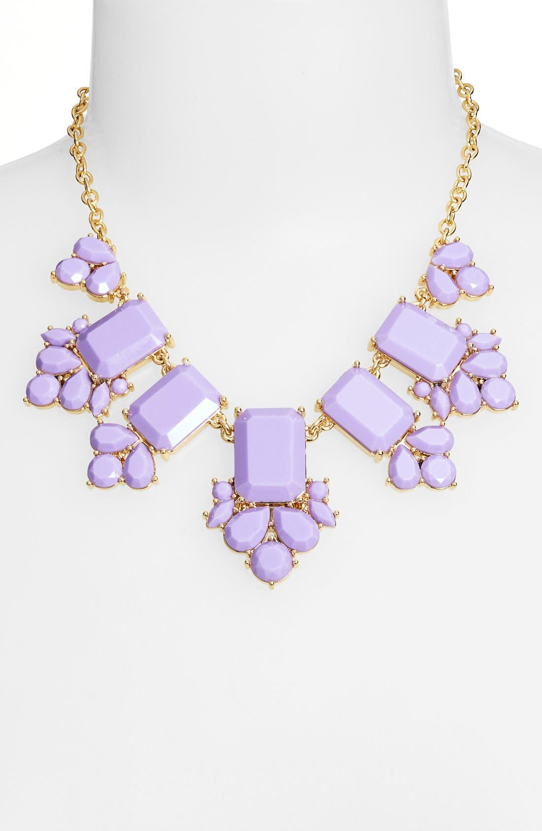 'daylight jewels' statement necklace,                             Alternate thumbnail 2, color,                             Lilac