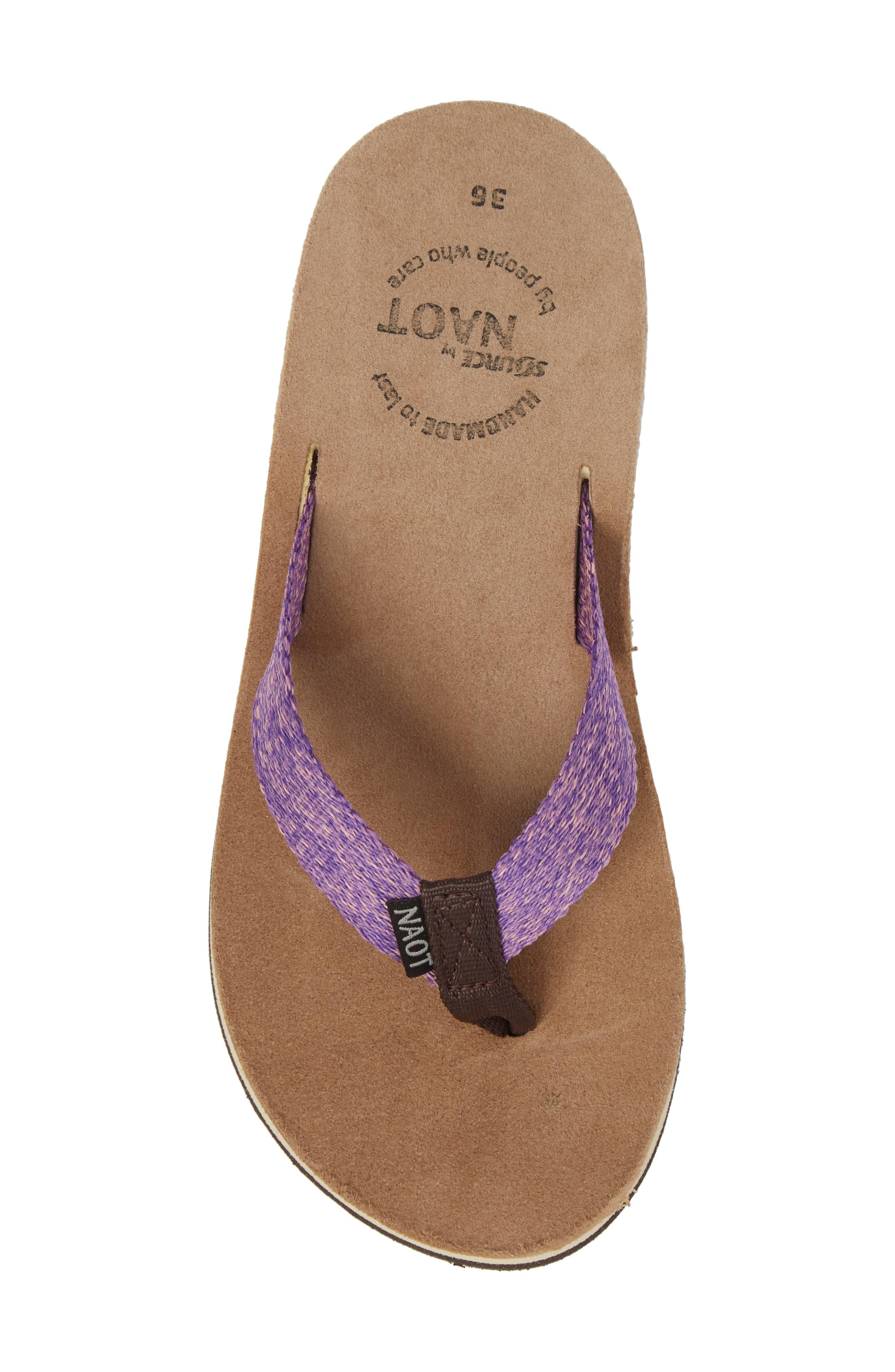 Island Flip Flop,                             Alternate thumbnail 5, color,                             Purple Lilac Fabric