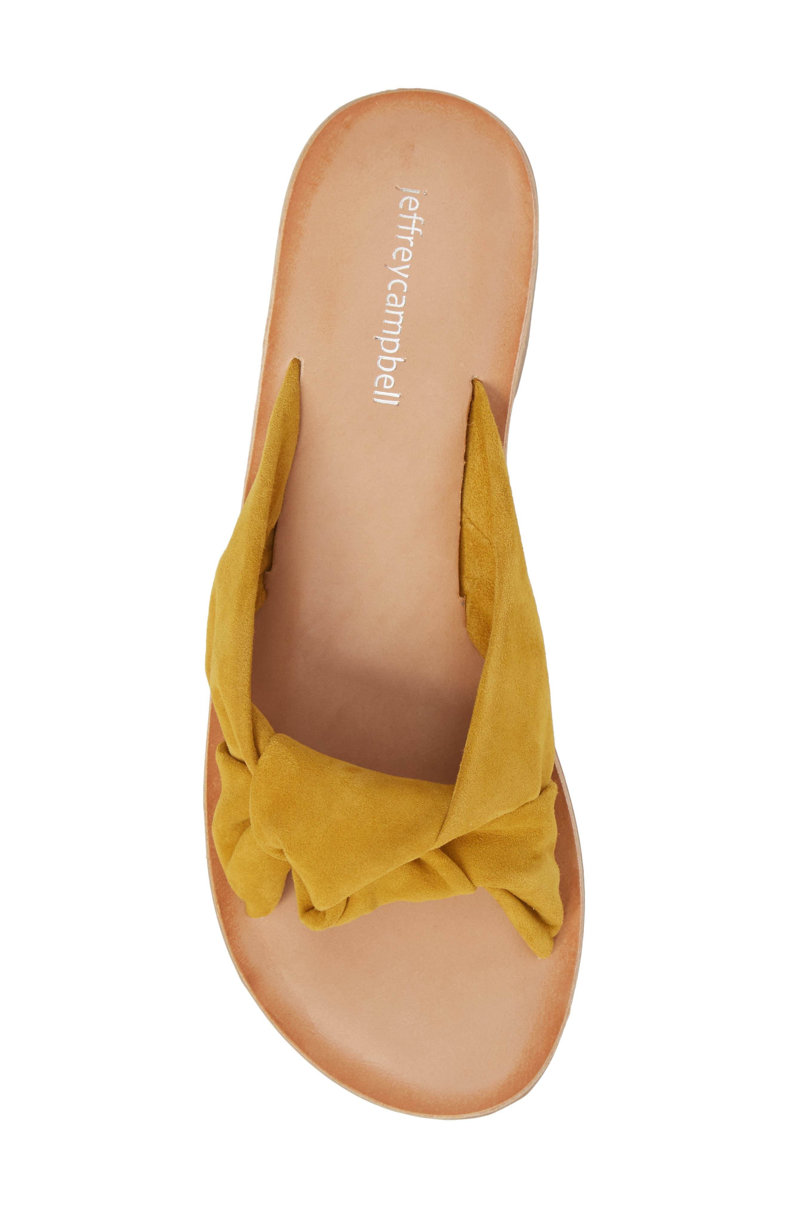 Zocalo Slide Sandal,                             Alternate thumbnail 5, color,                             Mustard Suede