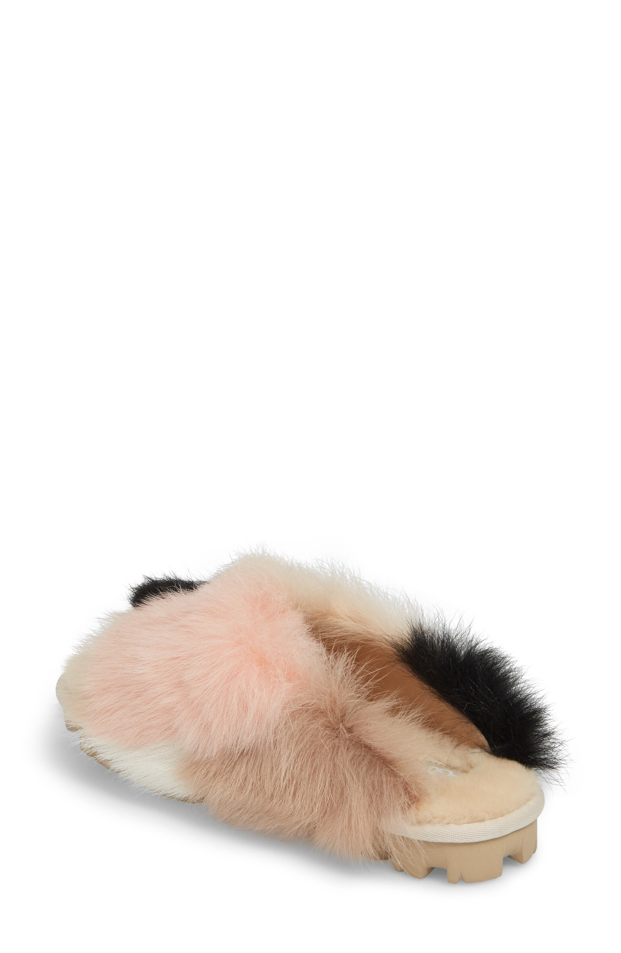 Shag It Crazy Genuine Toscana Shearling Slide Sandal,                             Alternate thumbnail 2, color,                             Natural