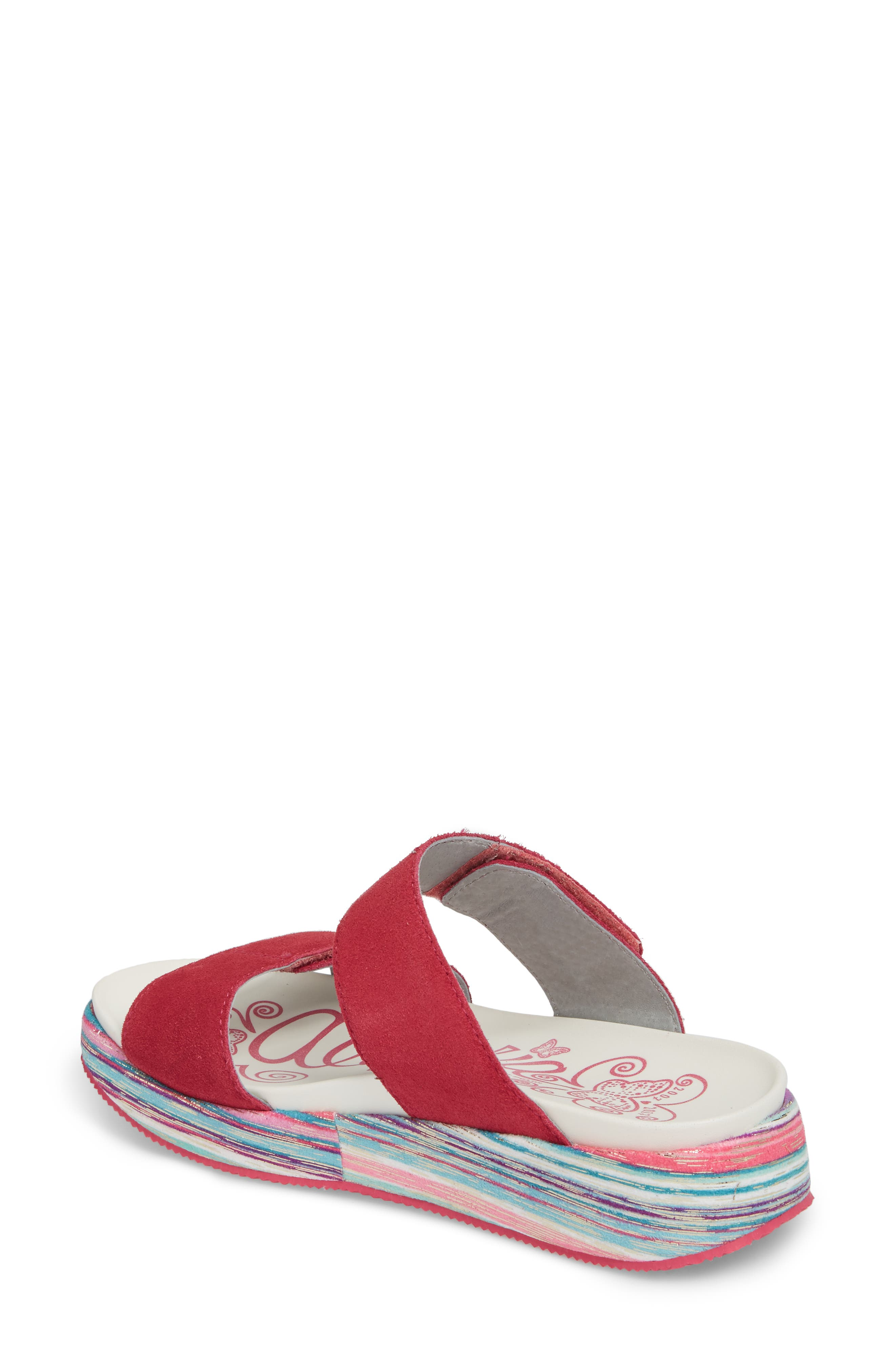 by PG Lite Mixie Slide Sandal,                             Alternate thumbnail 2, color,                             Fuchsia Party Leather