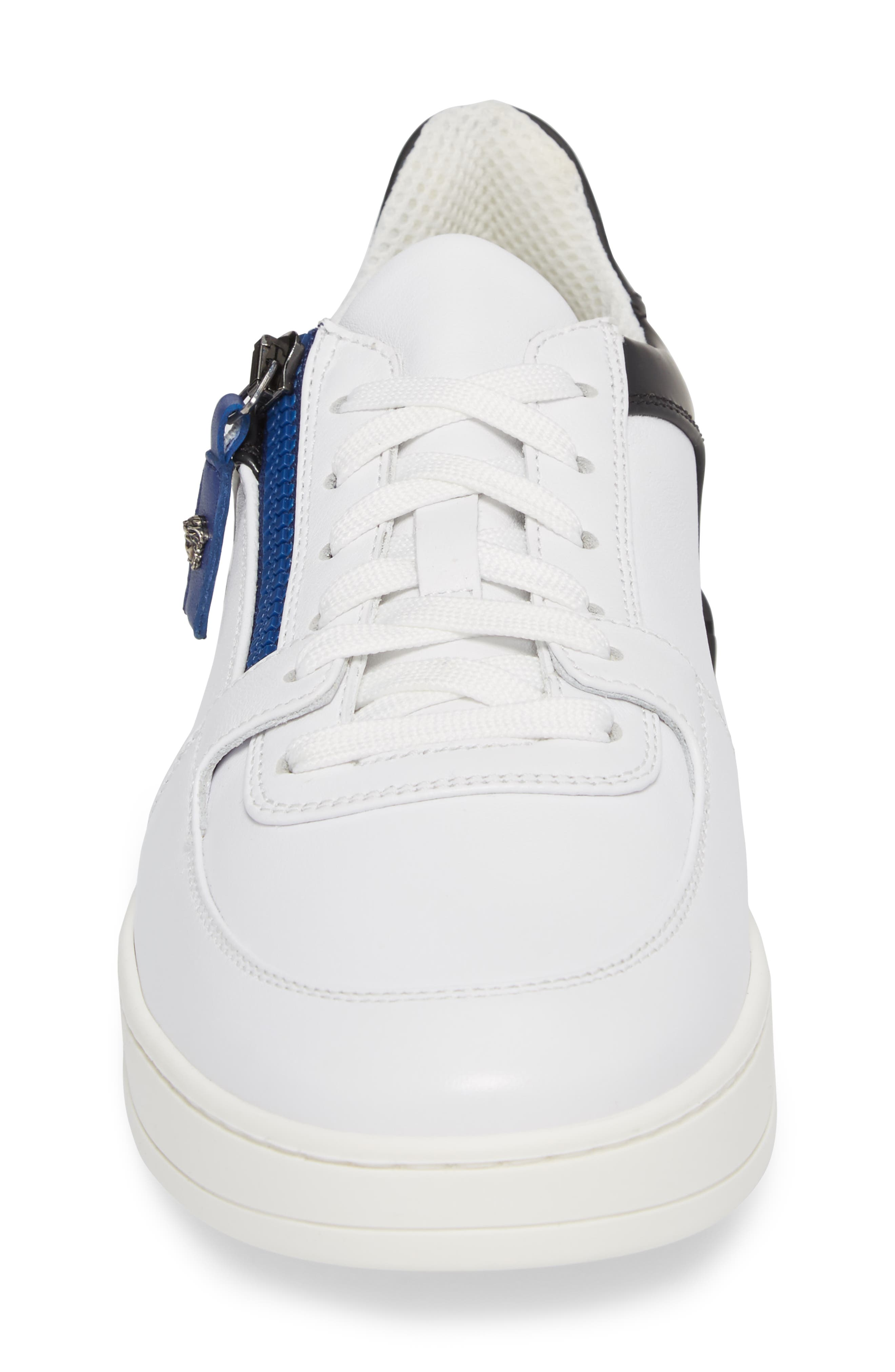Sneaker,                             Alternate thumbnail 4, color,                             White/ Black/ Bluette