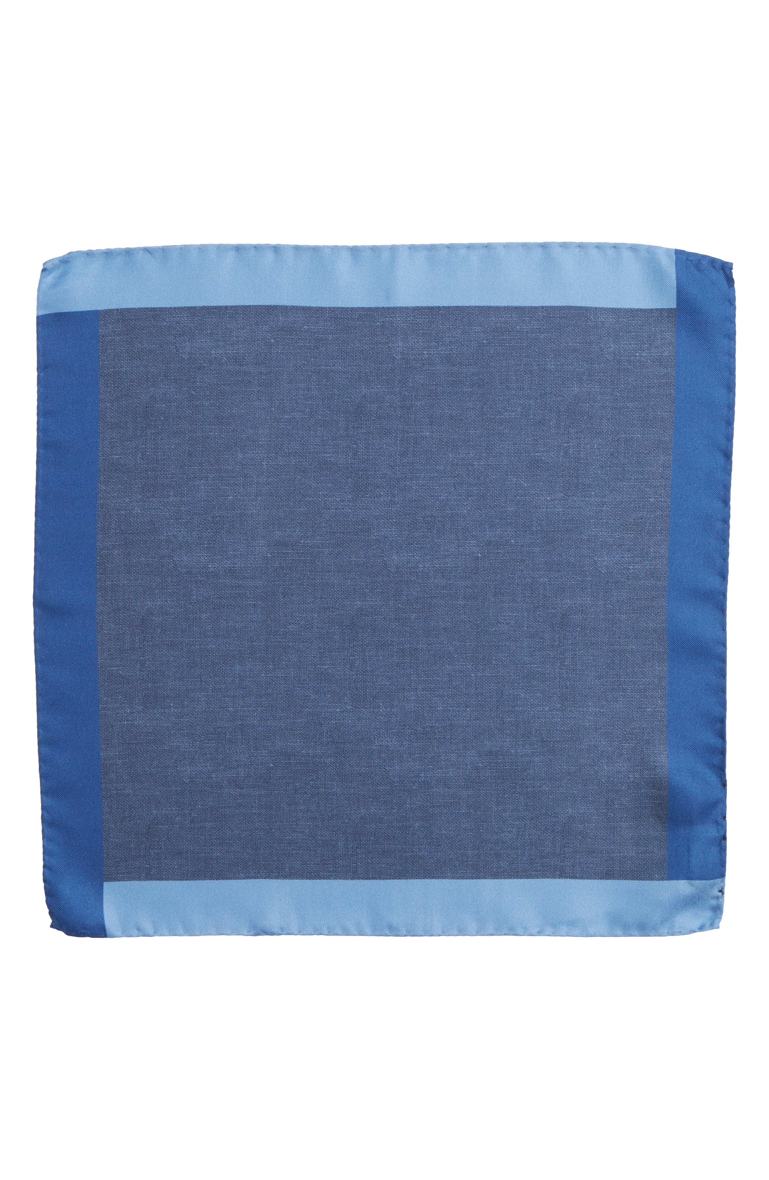 Nordstrom x BOSS Exclusive Silk Pocket Square,                             Alternate thumbnail 2, color,                             Blue