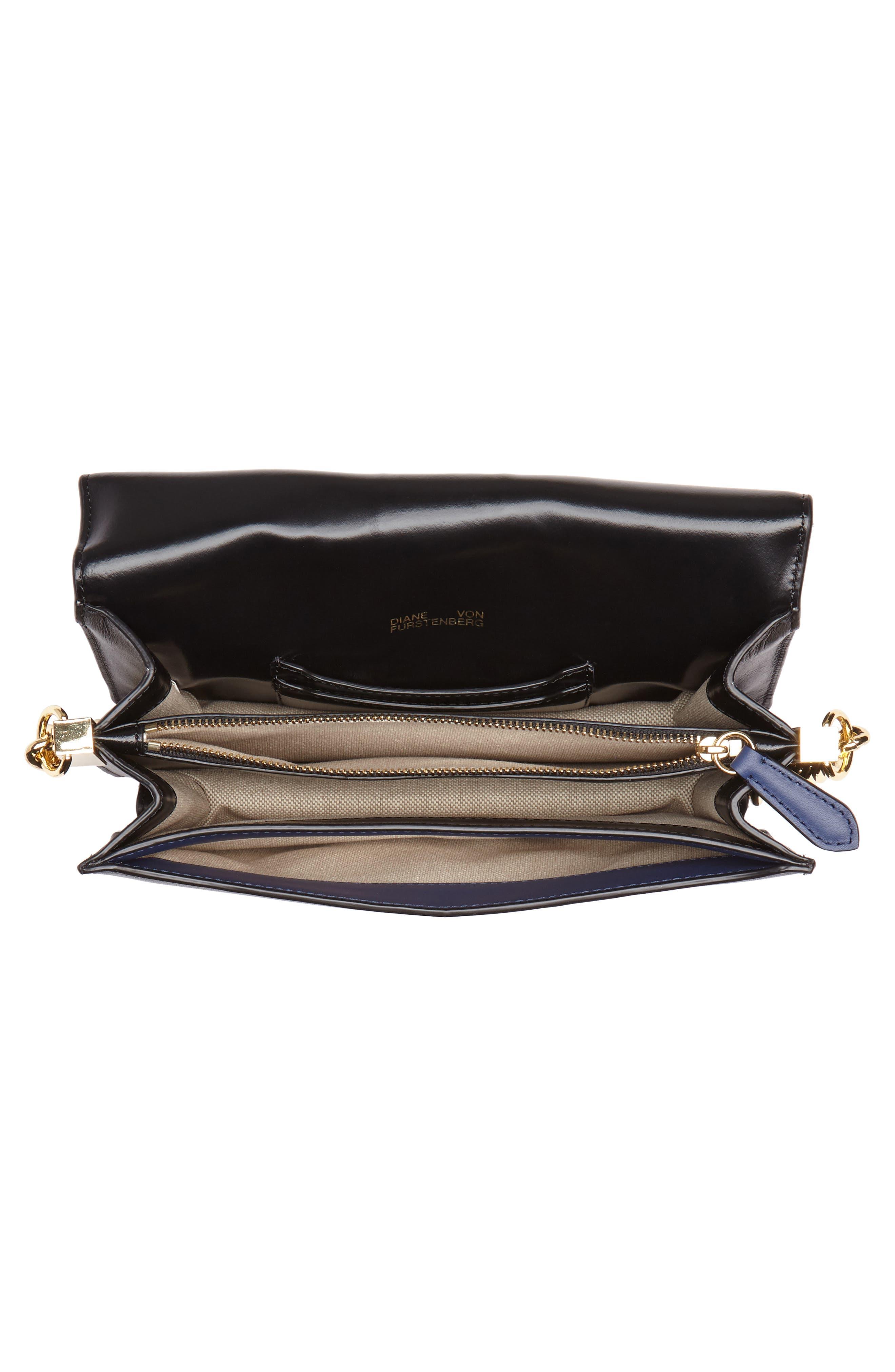 Bonne Journée Half Moon Leather Crossbody Bag,                             Alternate thumbnail 4, color,                             Harlow Black