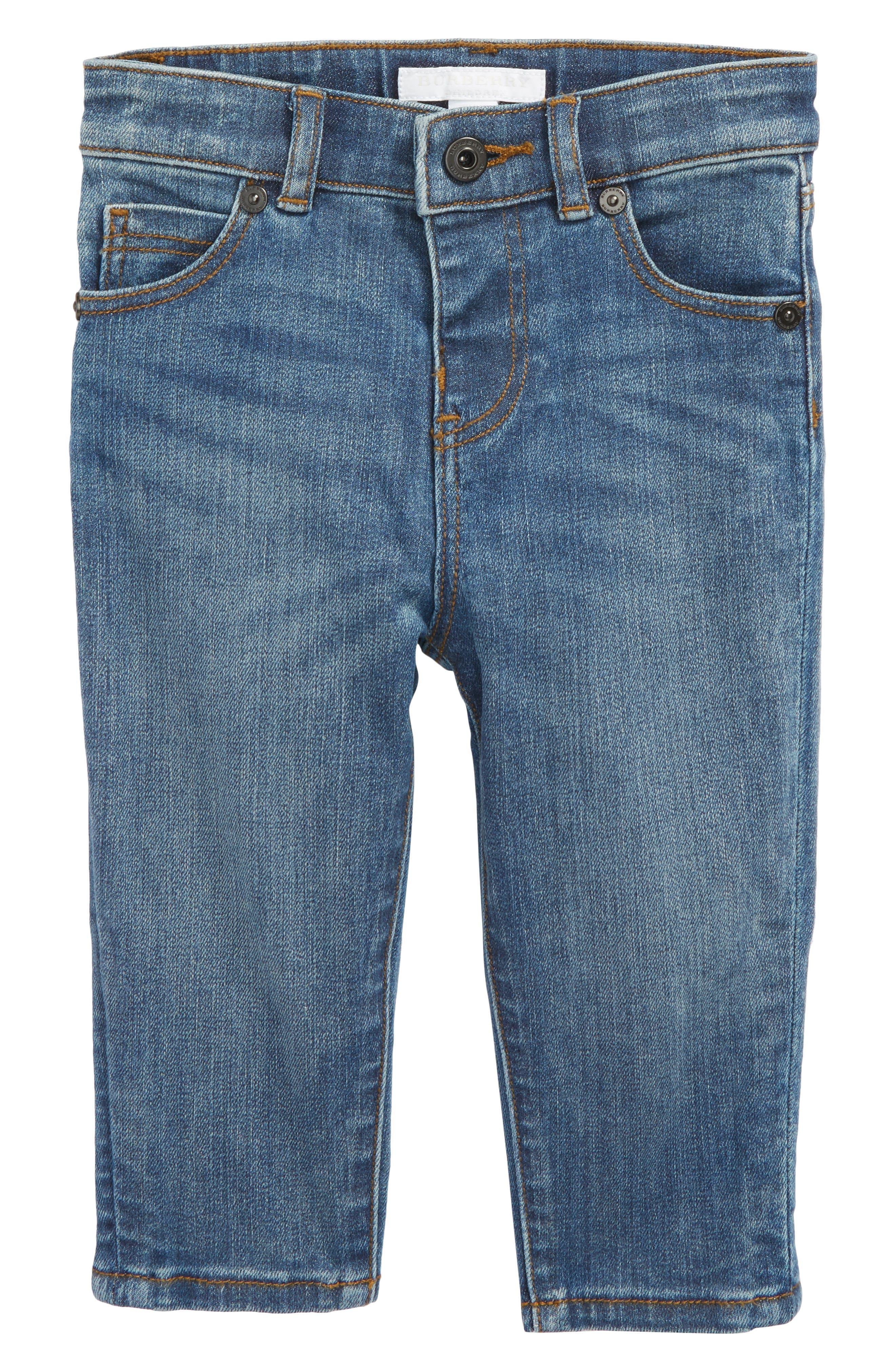 Skinny Jeans,                             Main thumbnail 1, color,                             Medium Indigo