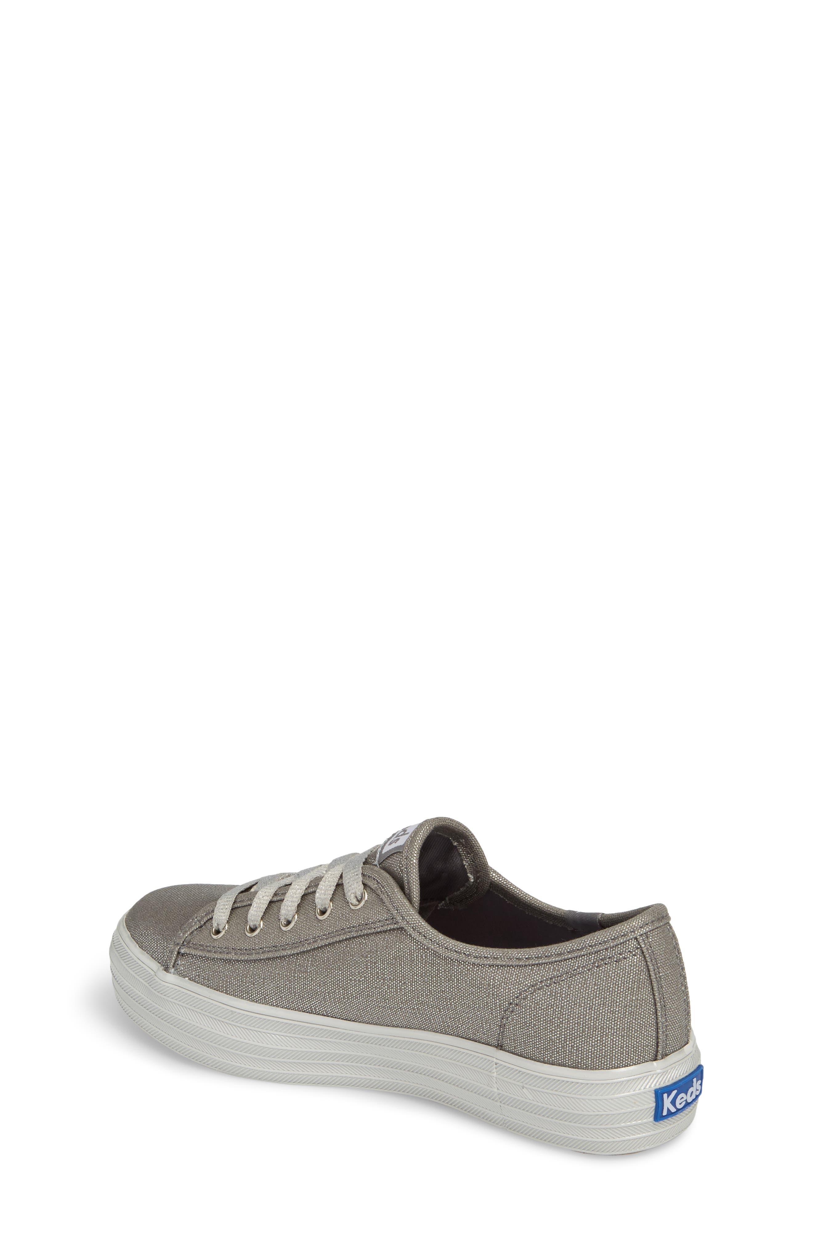 Triple Kick Platform Sneaker,                             Alternate thumbnail 2, color,                             Silver/ Silver