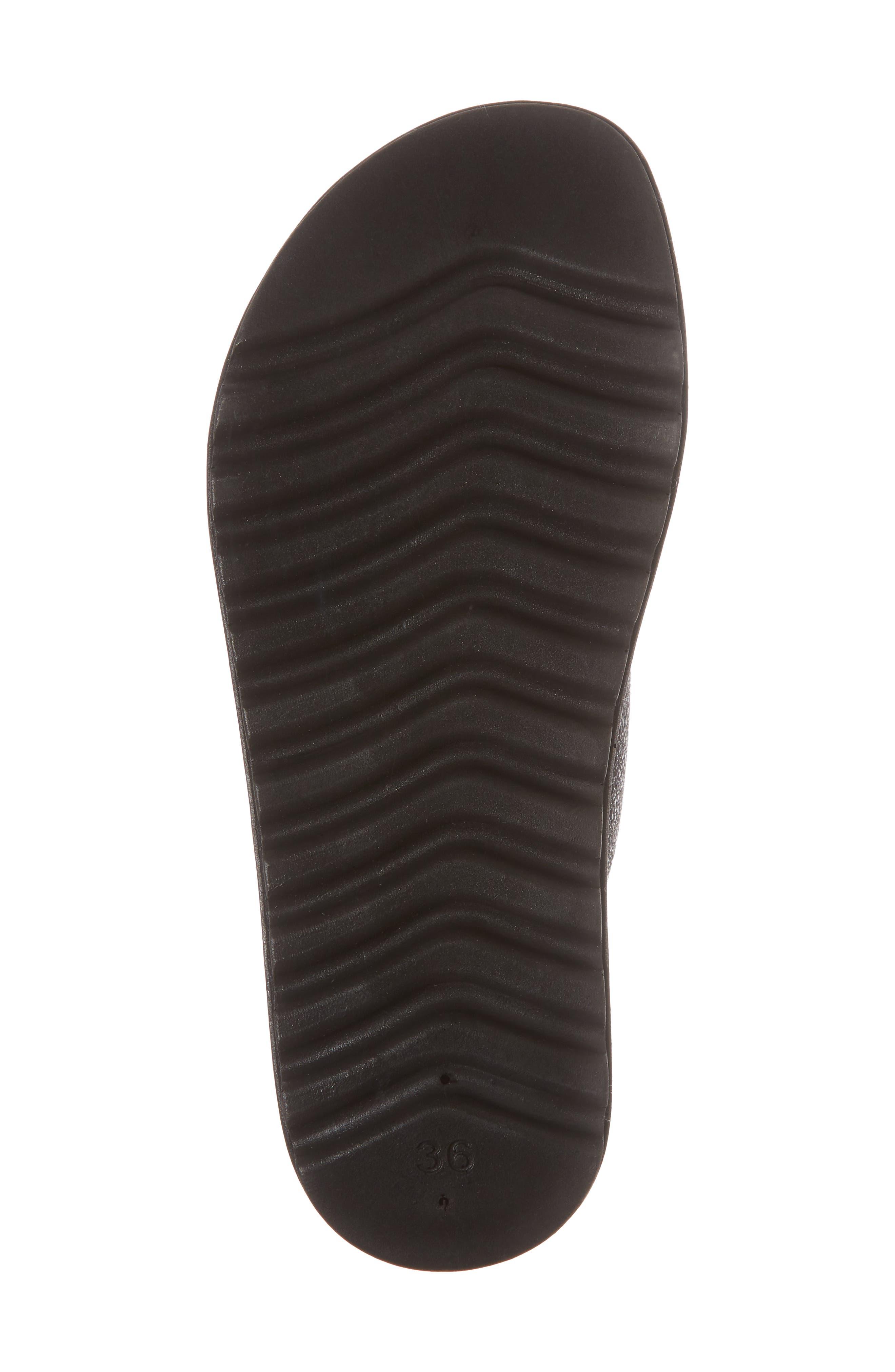 Melanie Platform Sandal,                             Alternate thumbnail 6, color,                             Black Spacey Leather