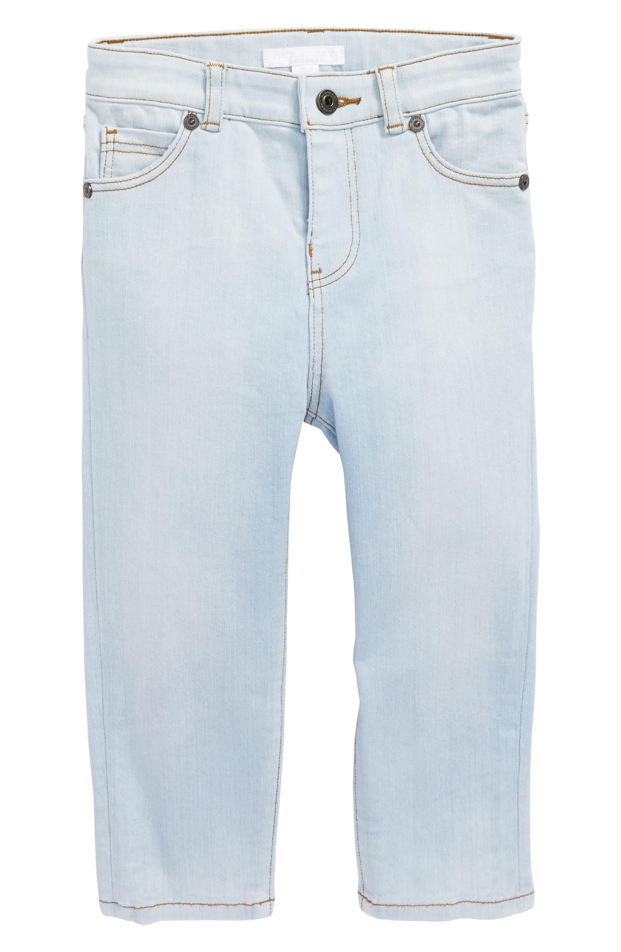 Alternate Image 1 Selected - Burberry Skinny Jeans (Baby Boys & Toddler Boys)