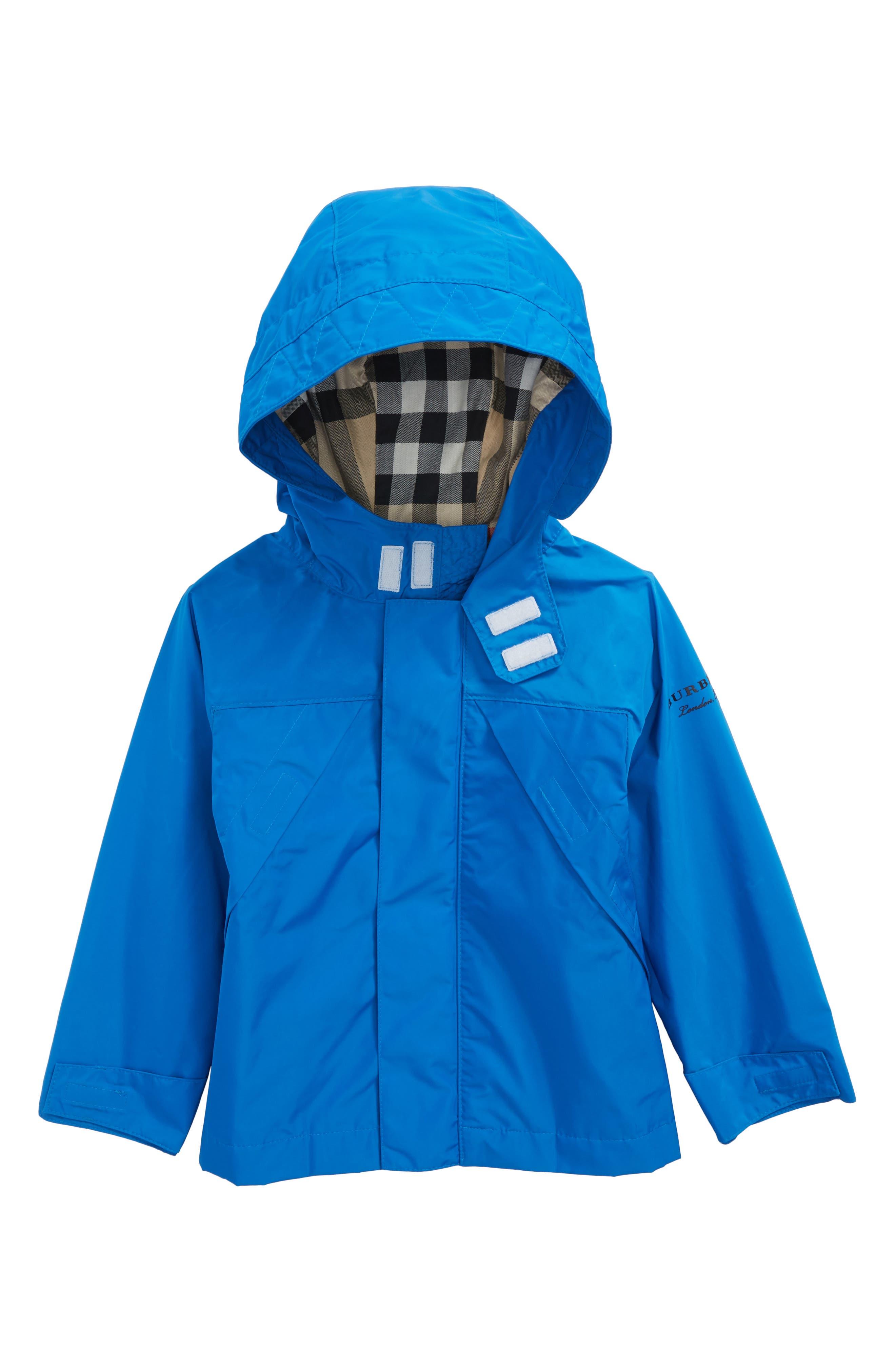 Yeoman Hooded Taffeta Windbreaker Jacket,                         Main,                         color, Azure Blue