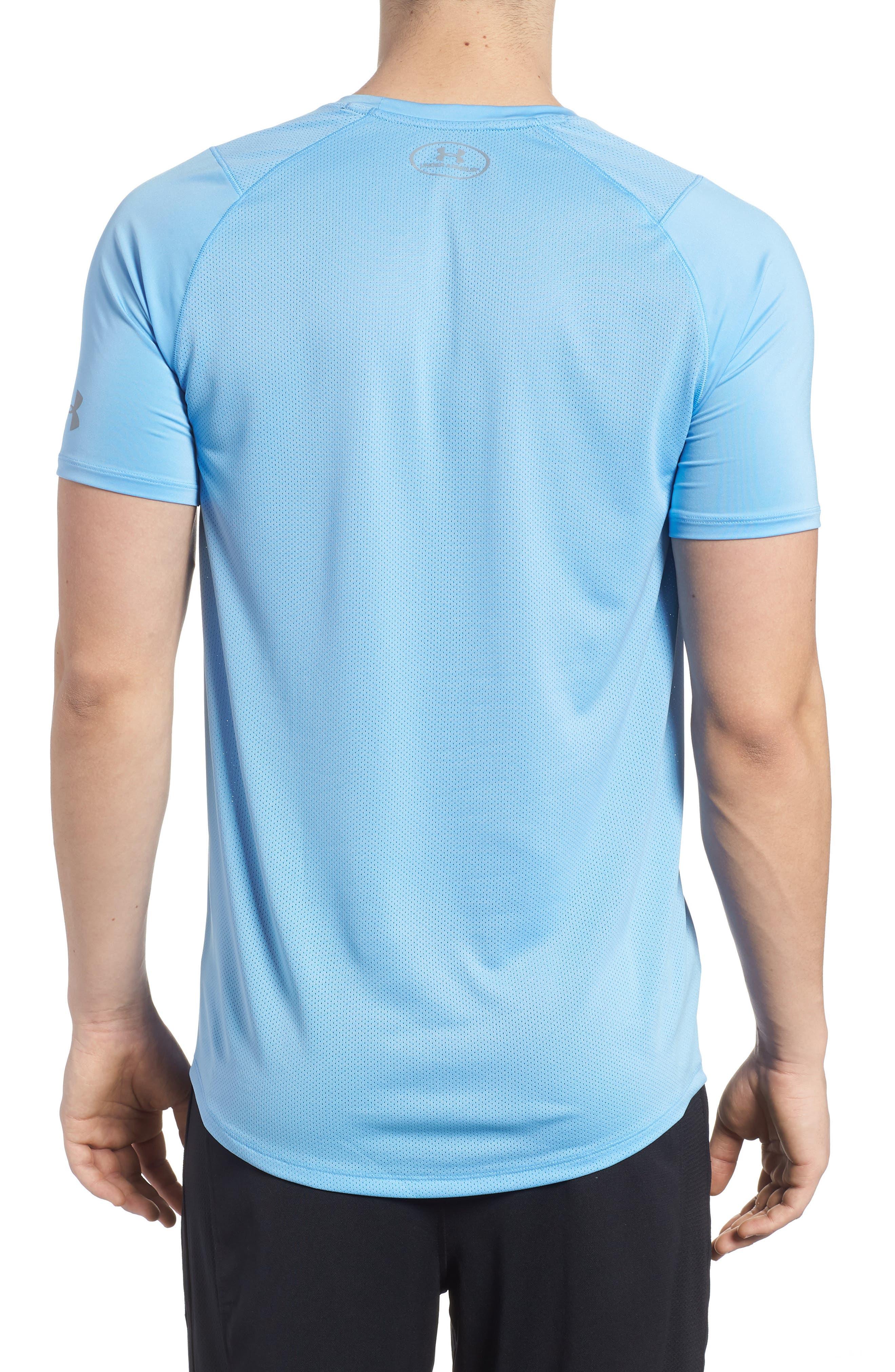 Raid 2.0 Crewneck T-Shirt,                             Alternate thumbnail 2, color,                             Carolina Blue/ Steel