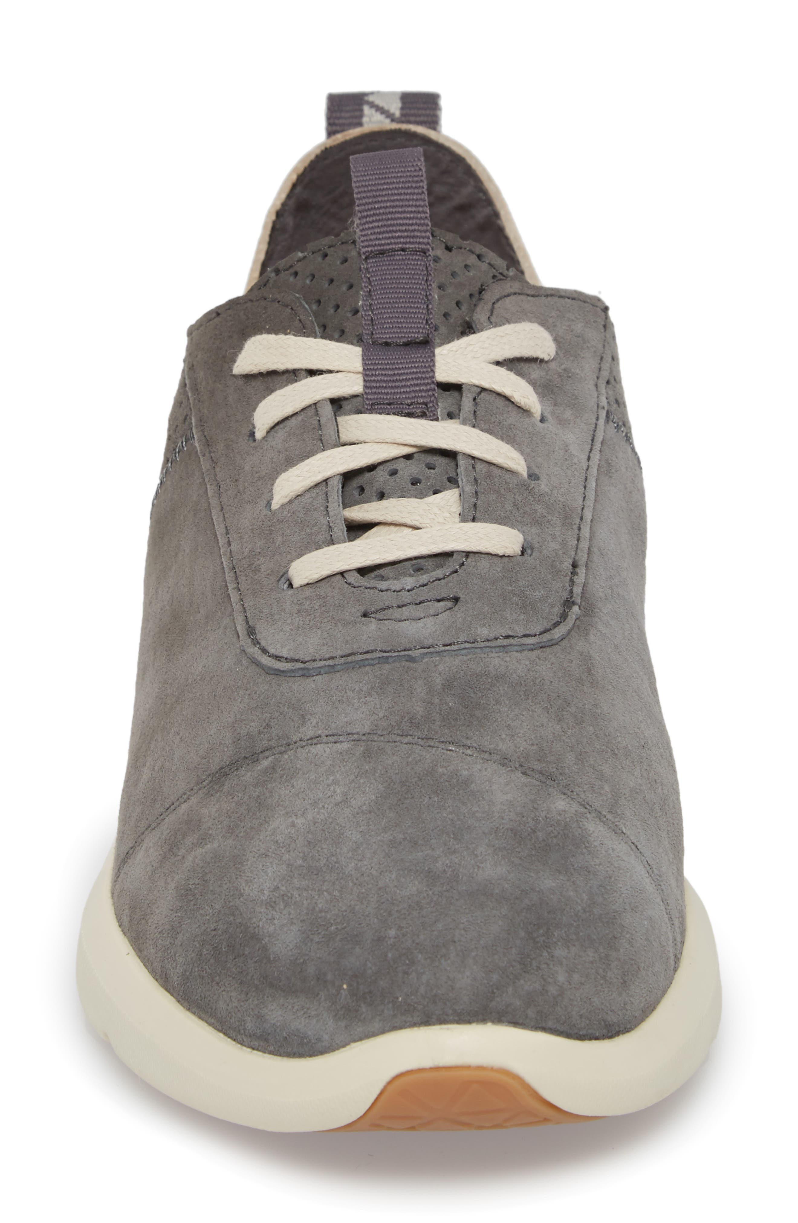 Cabrillo Perforated Low Top Sneaker,                             Alternate thumbnail 4, color,                             Shade Suede