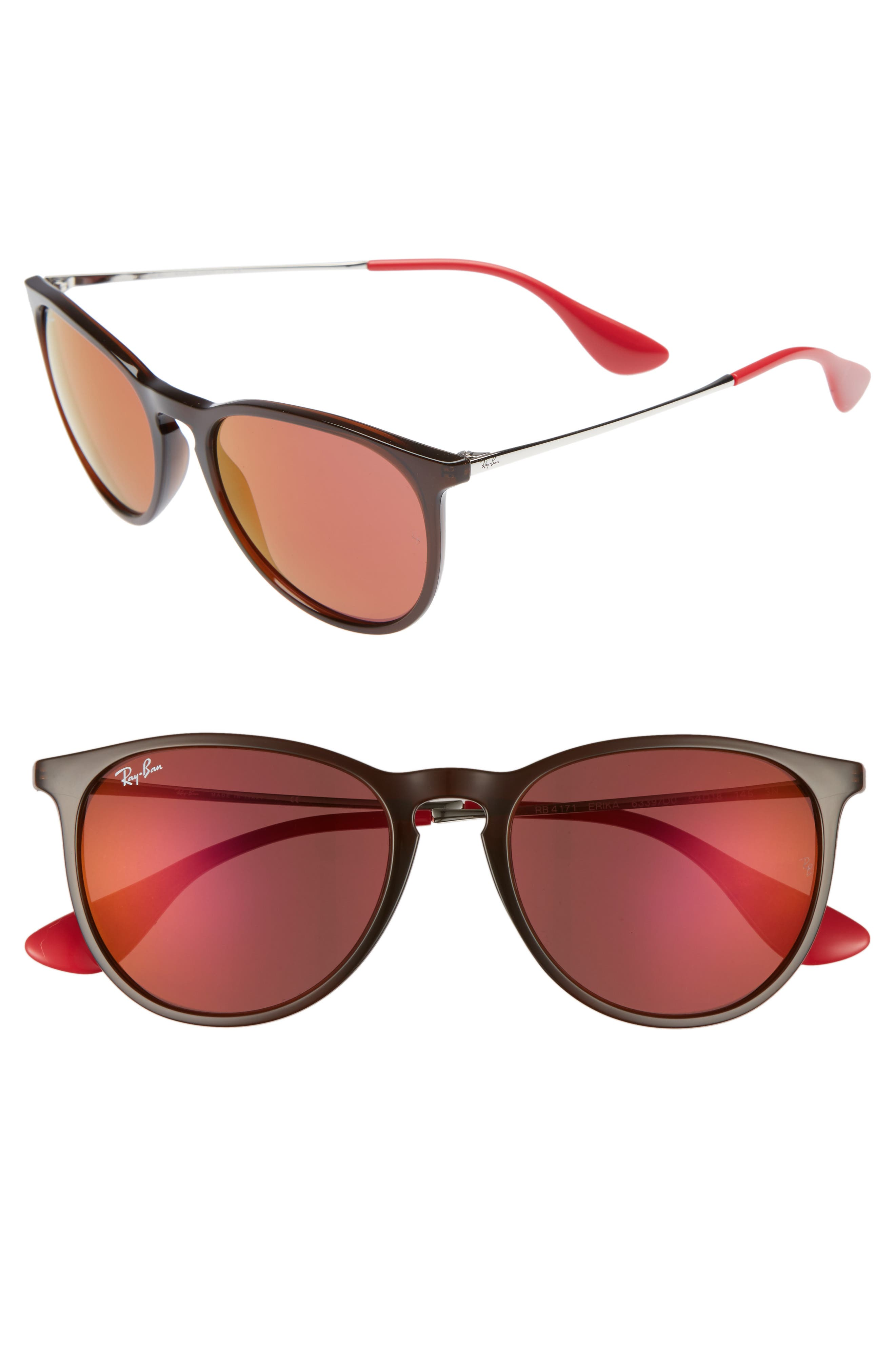 Erika Classic 54mm Sunglasses,                             Main thumbnail 1, color,                             Brown