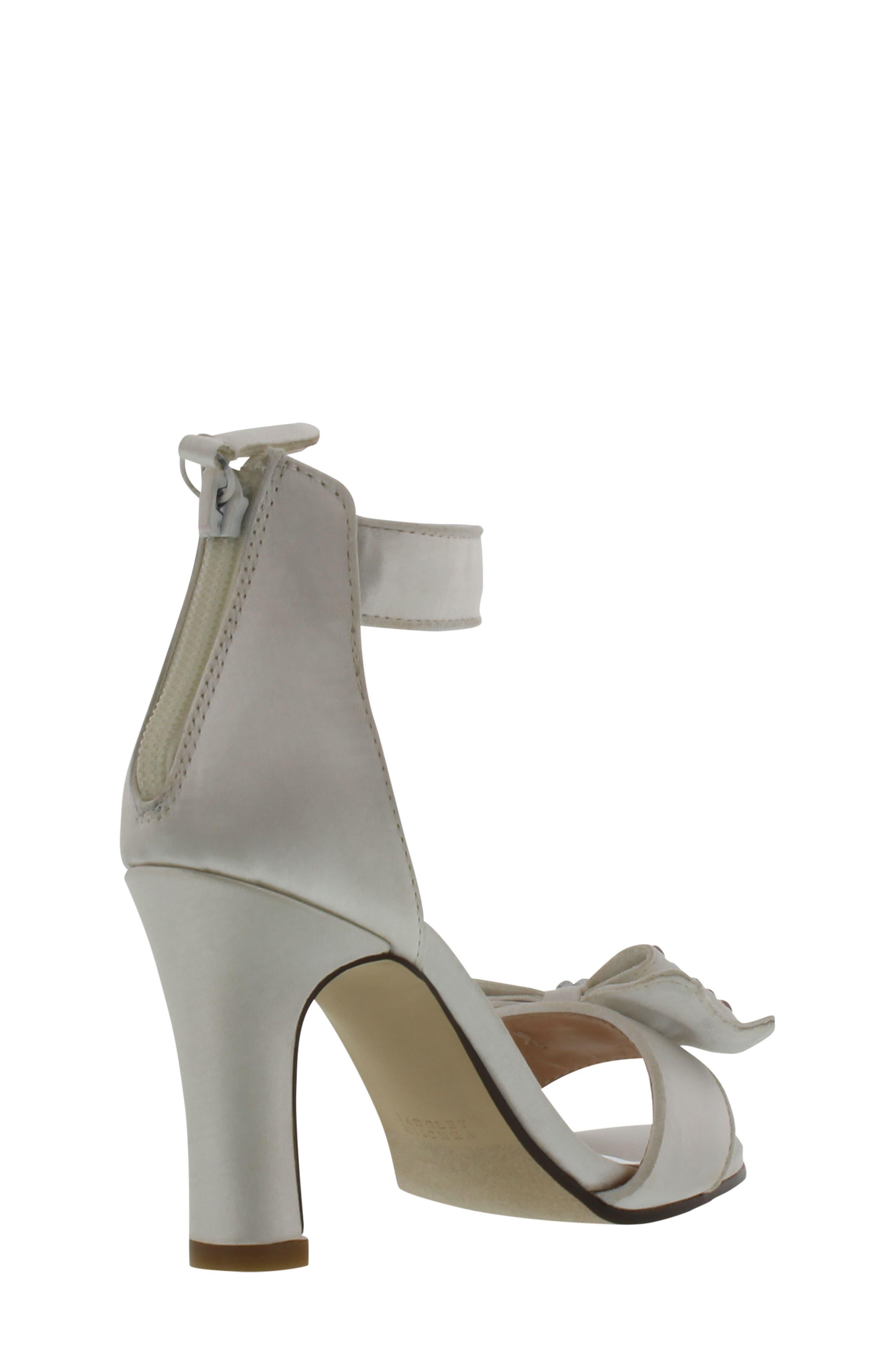 Kendall Embellished Bow Sandal,                             Alternate thumbnail 2, color,                             White Multi