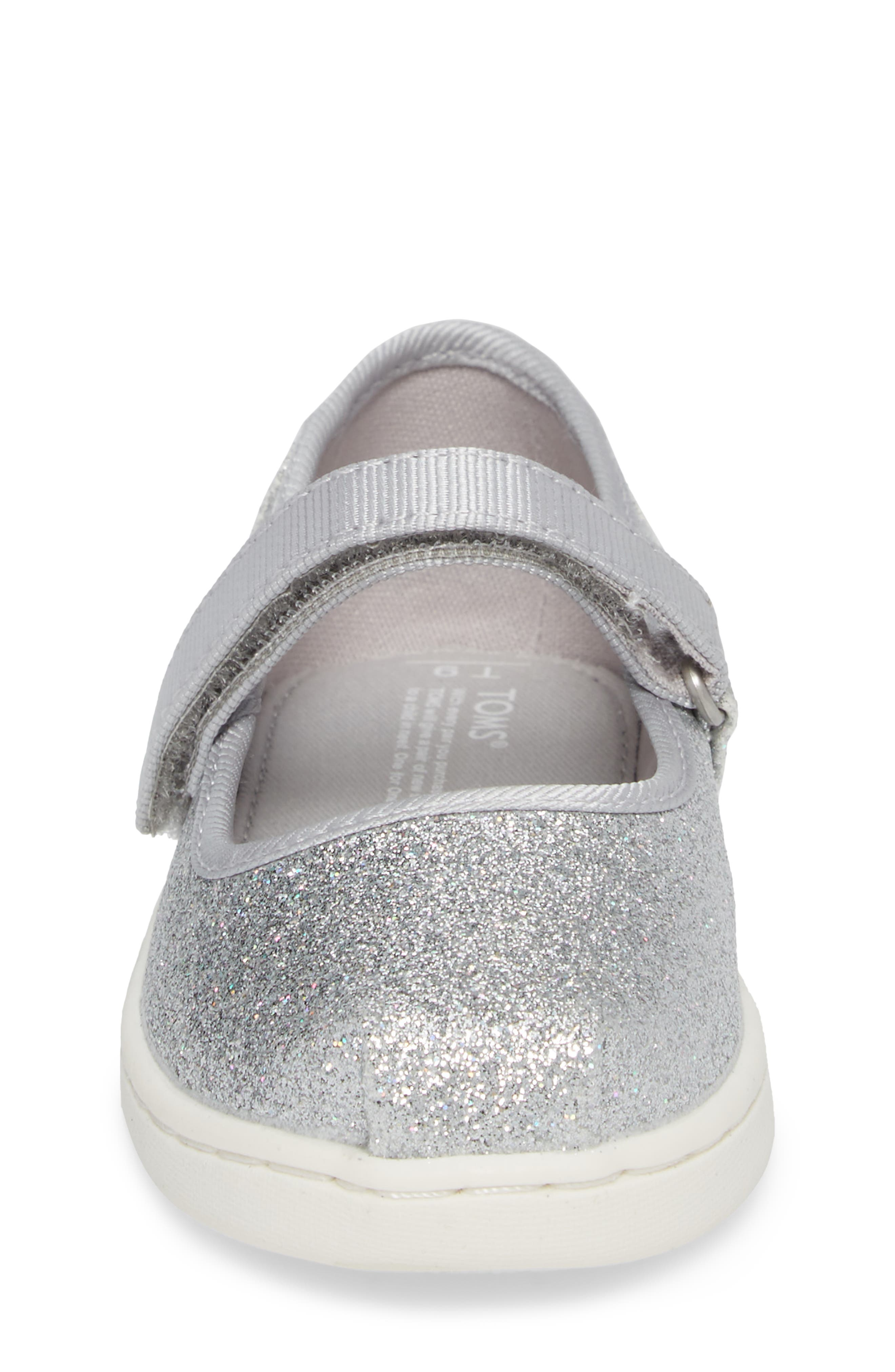 Mary Jane Sneaker,                             Alternate thumbnail 4, color,                             Silver Iridescent Glimmer