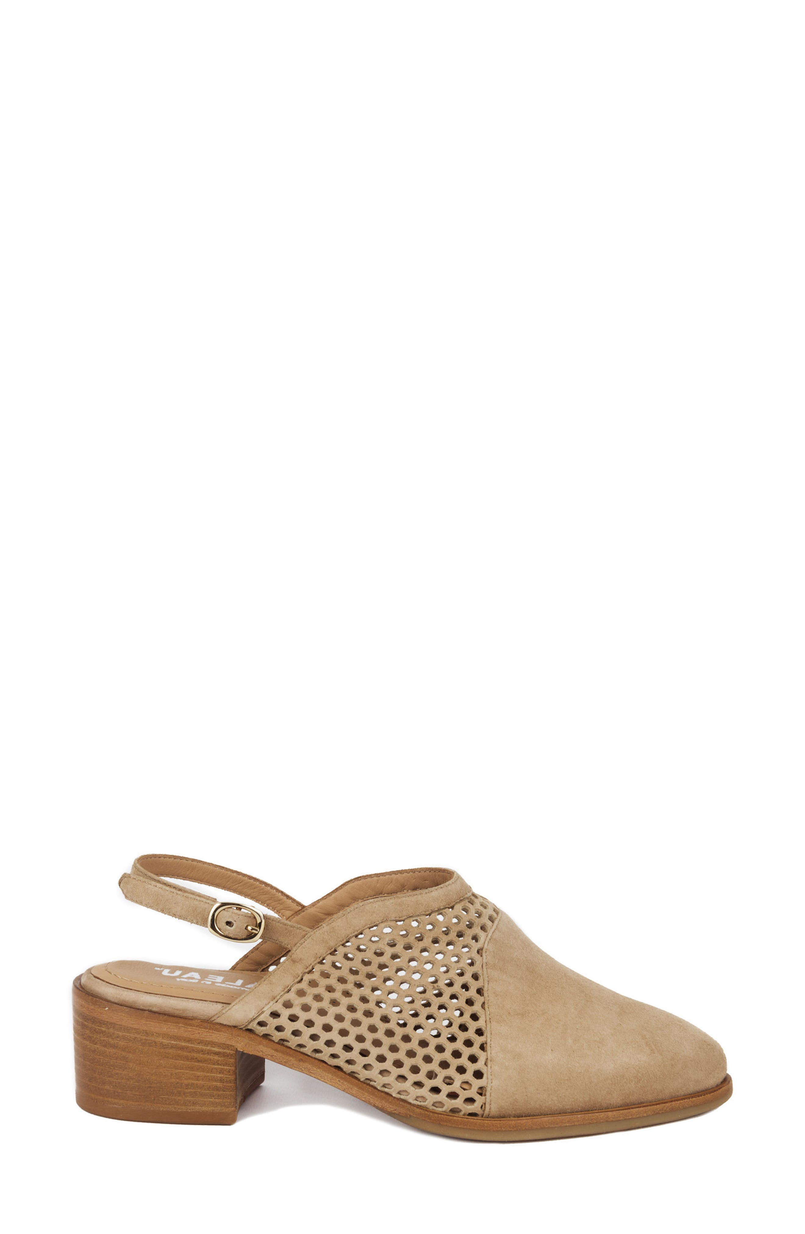 Toselli Water Resistant Slingback Bootie,                             Alternate thumbnail 3, color,                             Sand