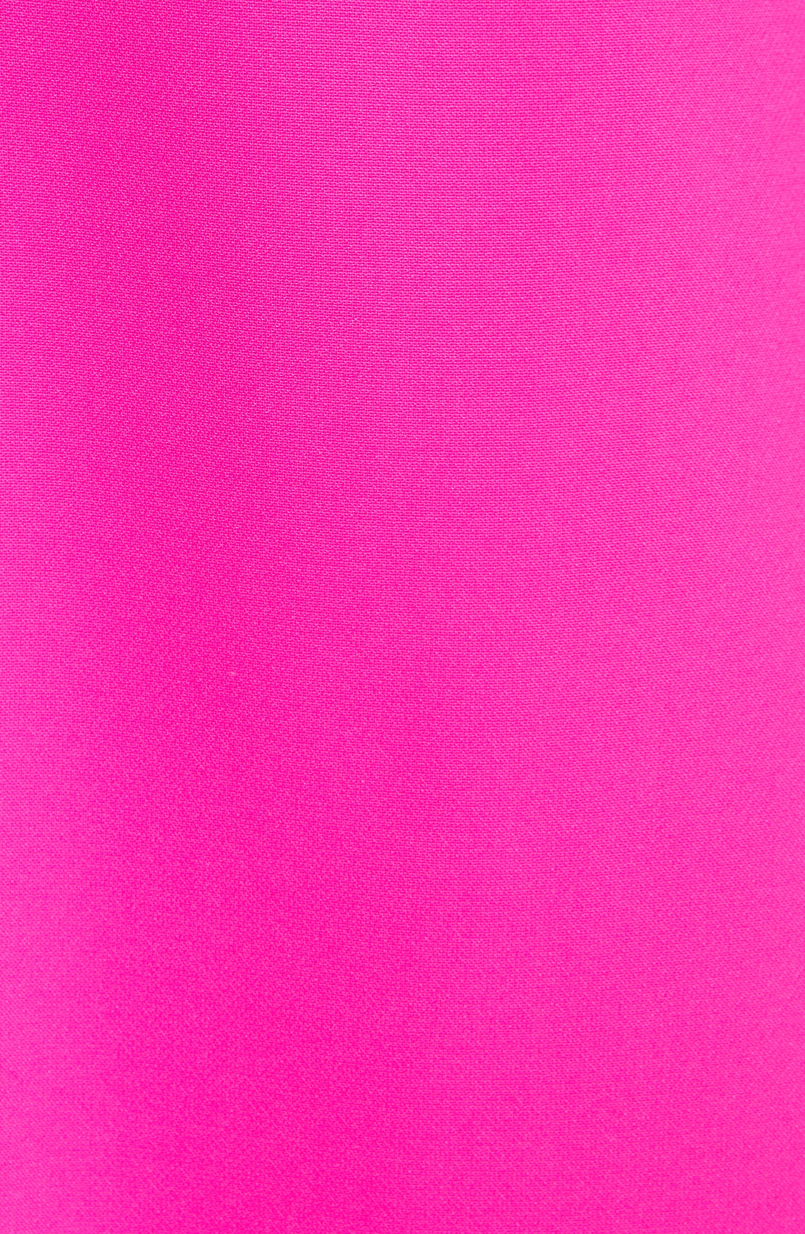 Torrii High Neck Tunic Dress,                             Alternate thumbnail 5, color,                             Bright Pink