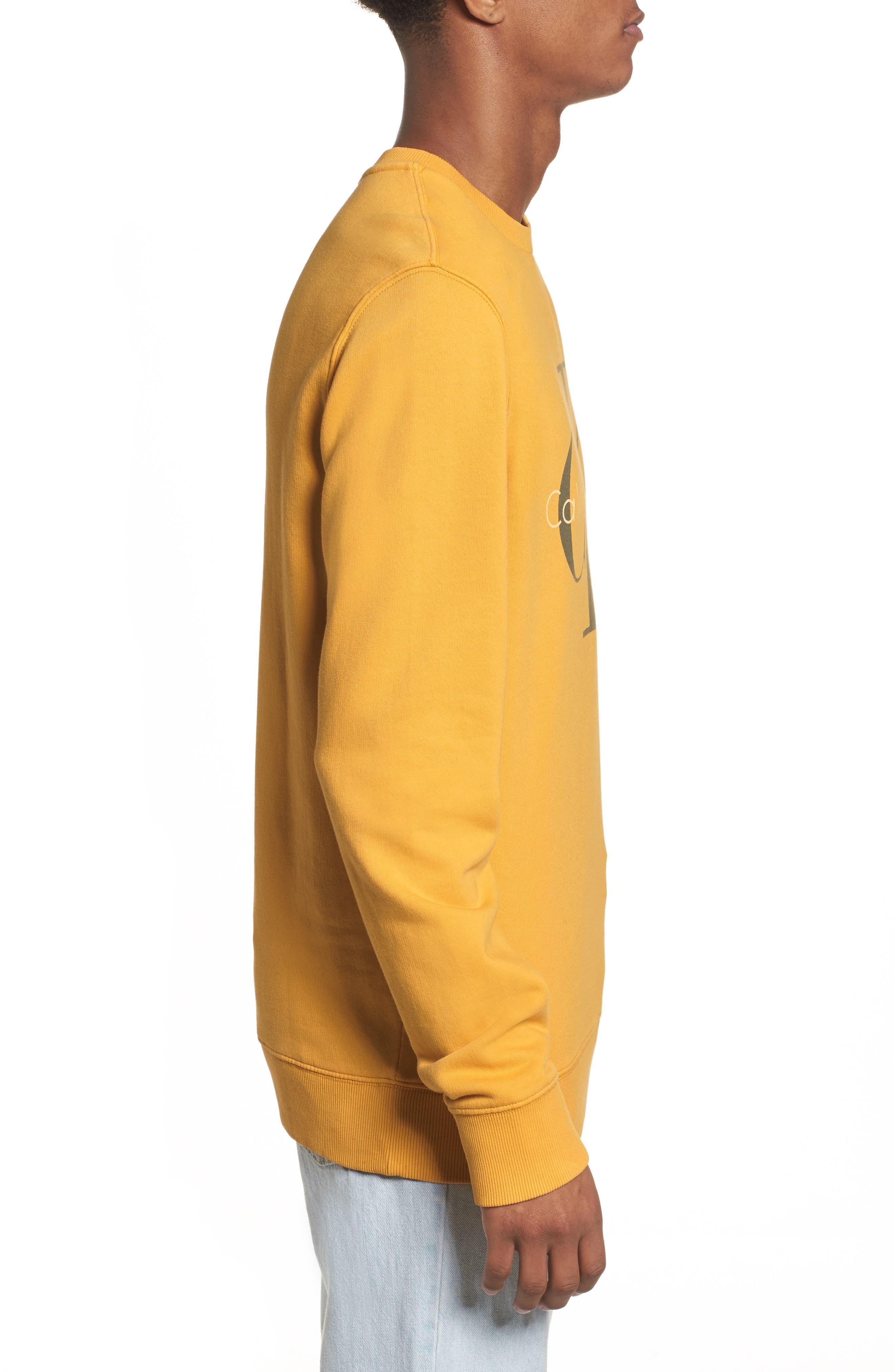 Pop Color Sweatshirt,                             Alternate thumbnail 3, color,                             Spectra Yellow