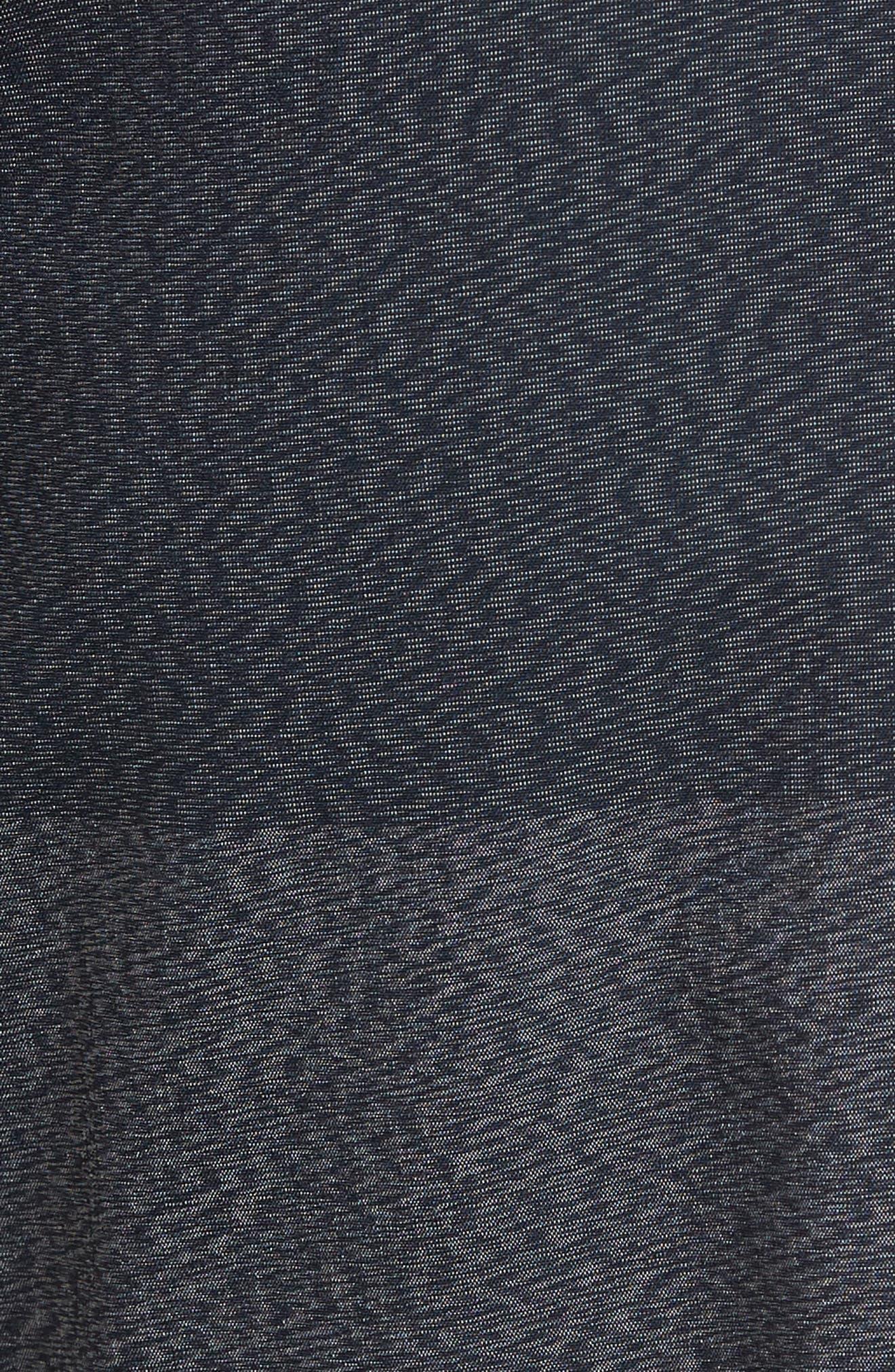 Lido Heather Board Shorts,                             Alternate thumbnail 5, color,                             Blue Smoke