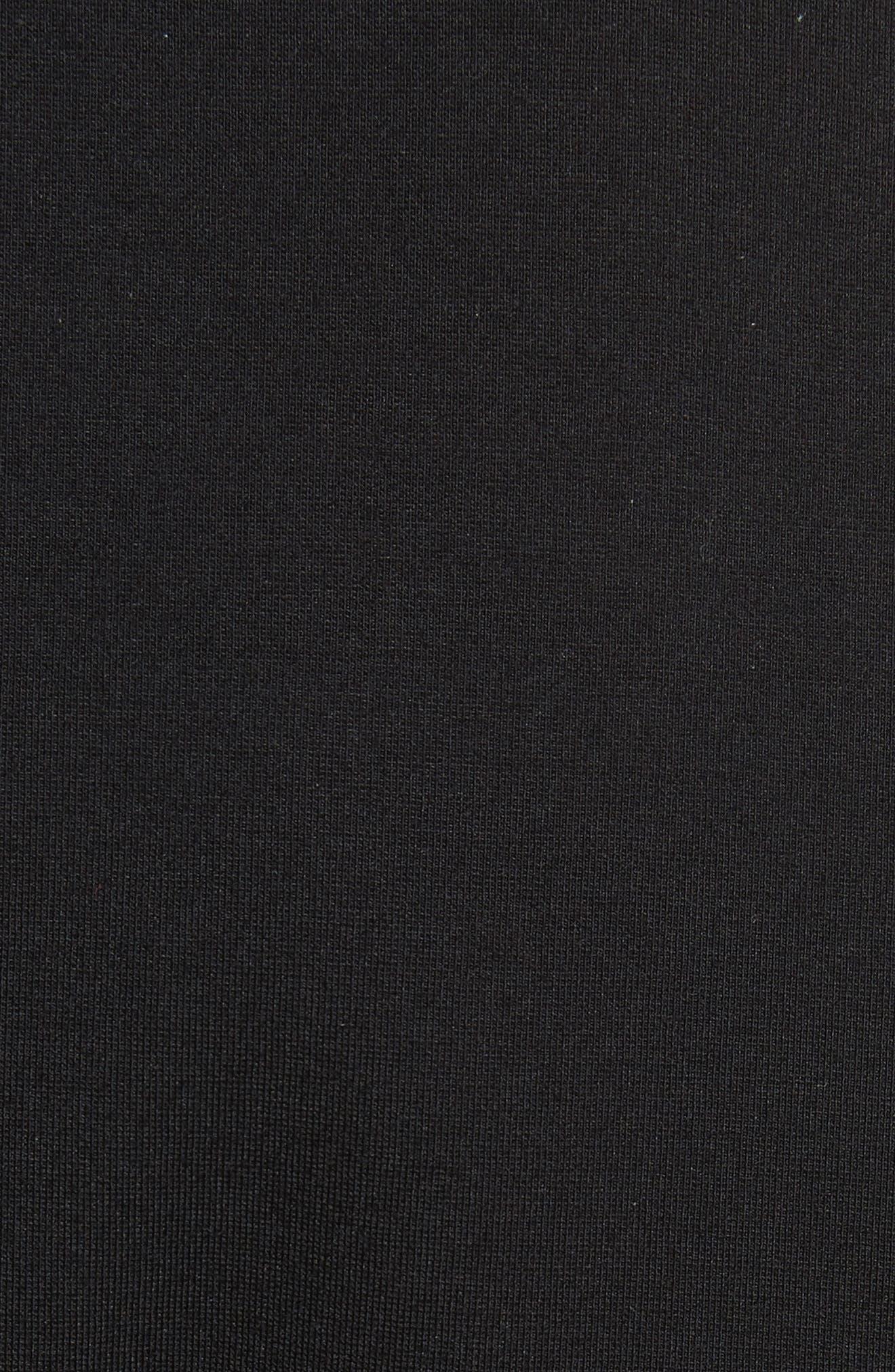 Embroidered Skater Dress,                             Alternate thumbnail 5, color,                             Black