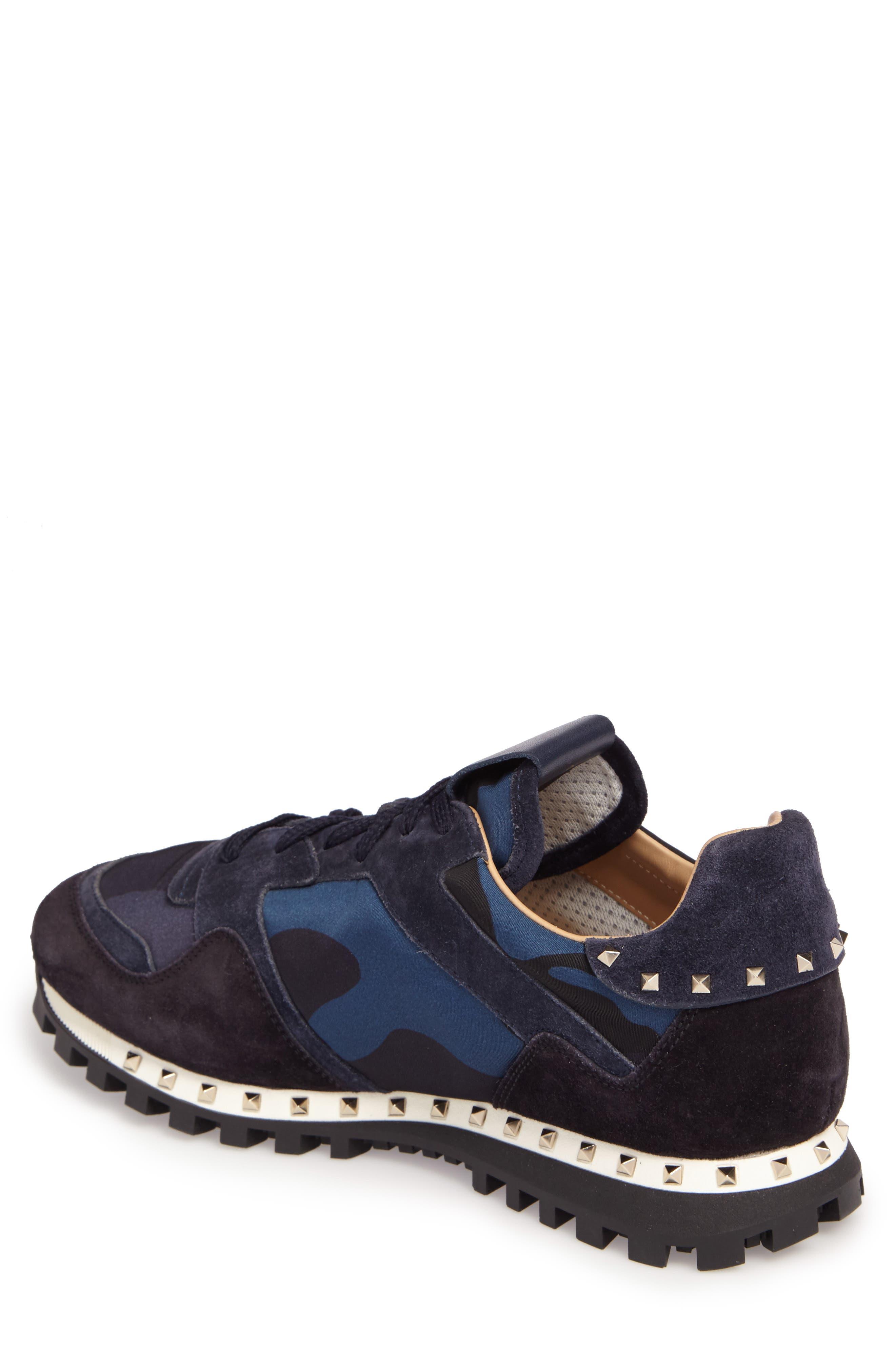 Camo Rockstud Sneaker,                             Alternate thumbnail 2, color,                             Marine/ Nero/ Dark Blue