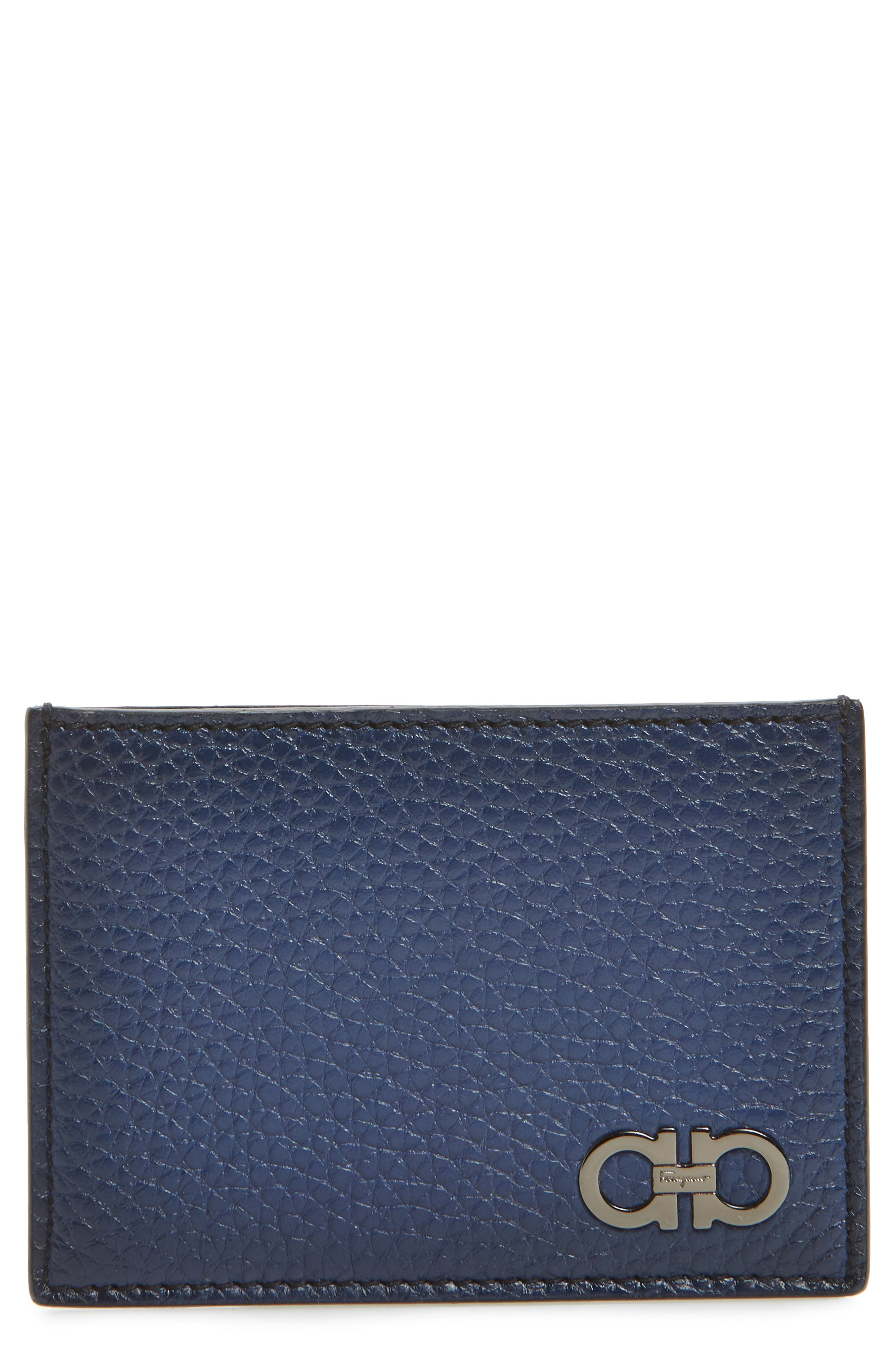 Revival Leather Card Case,                         Main,                         color, Blue