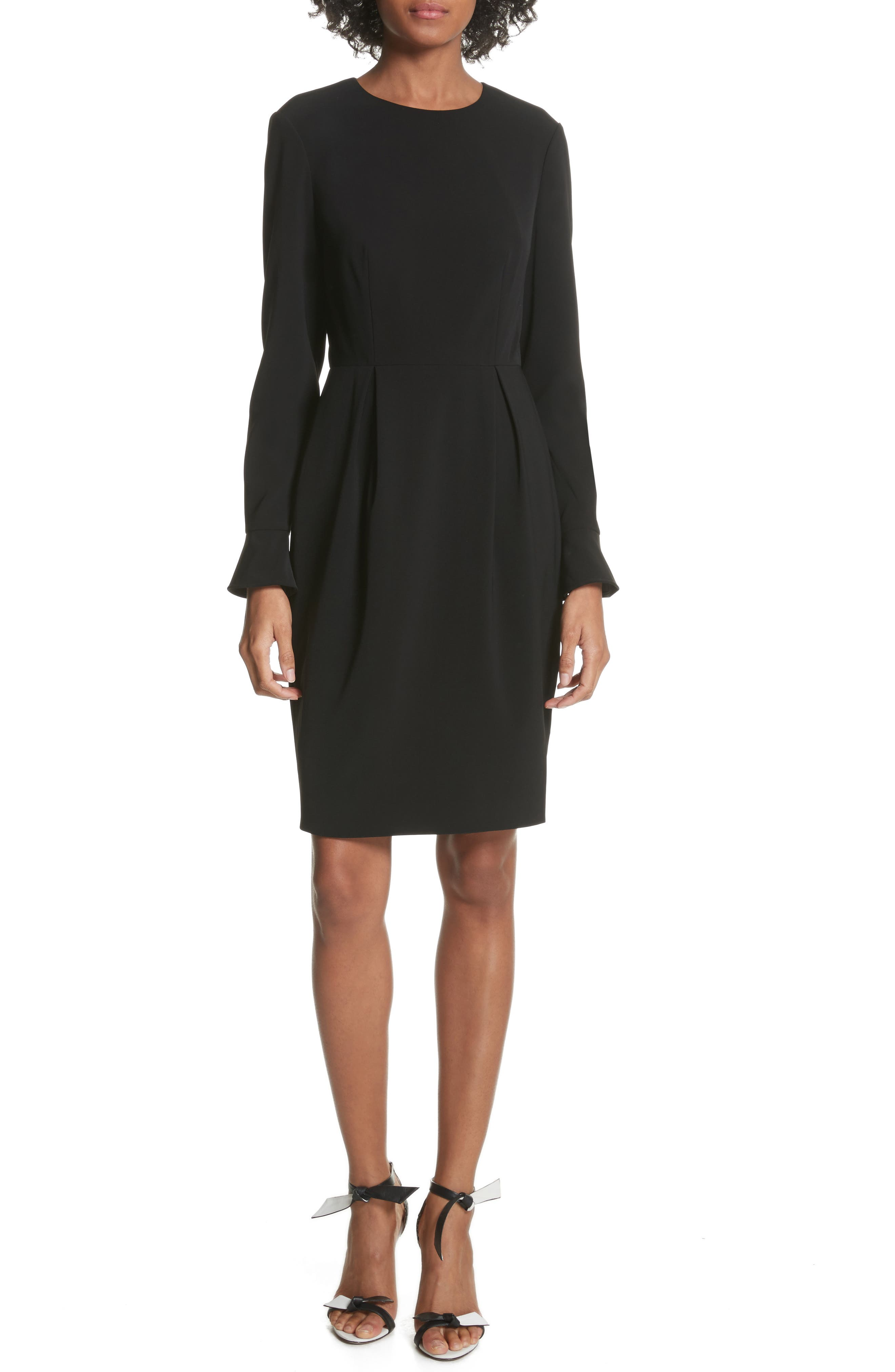 Yulid Flare Cuff Pencil Dress,                         Main,                         color, Black