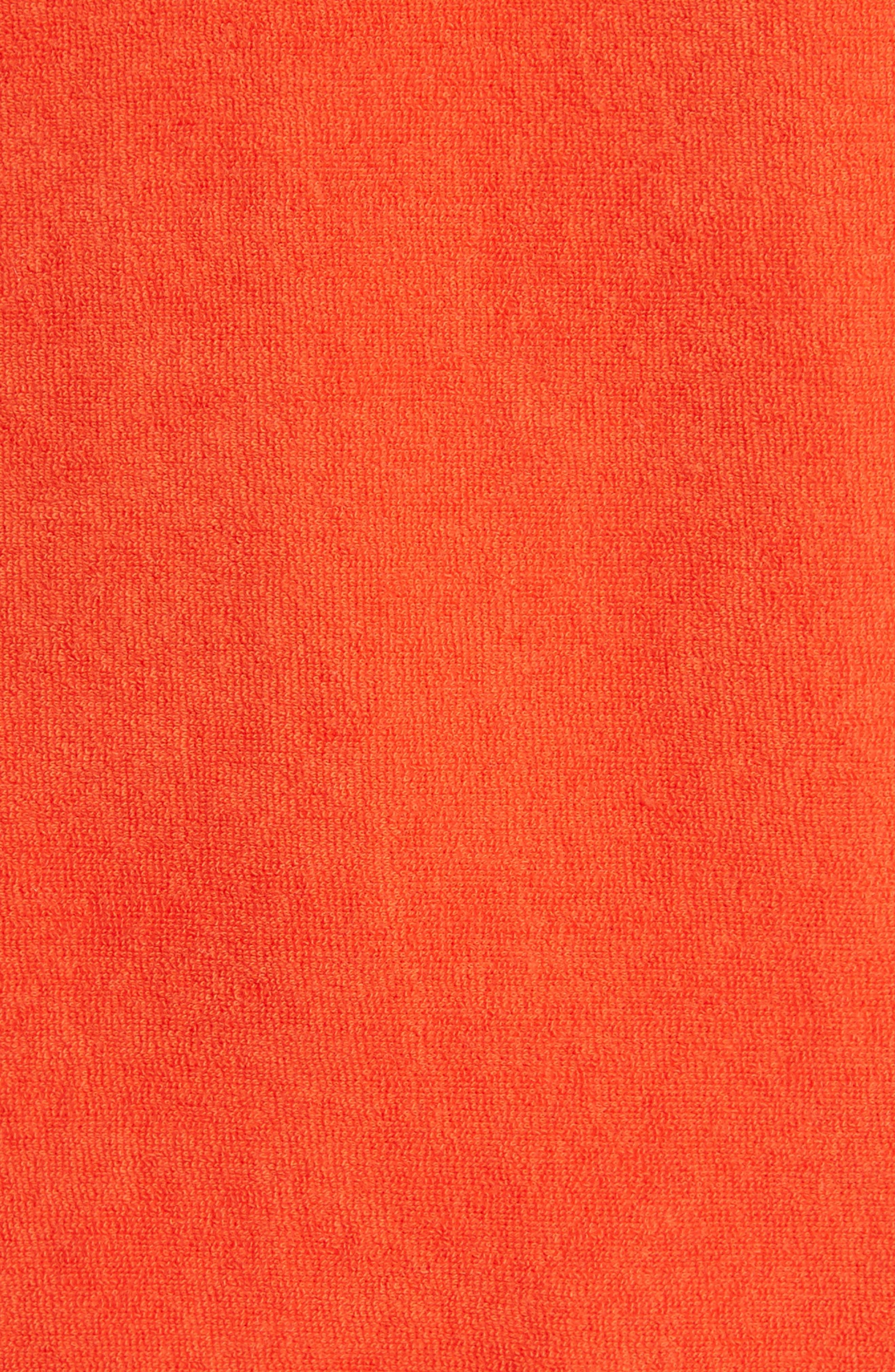 Lennox Terry Cloth Polo,                             Alternate thumbnail 6, color,                             Poppy Red