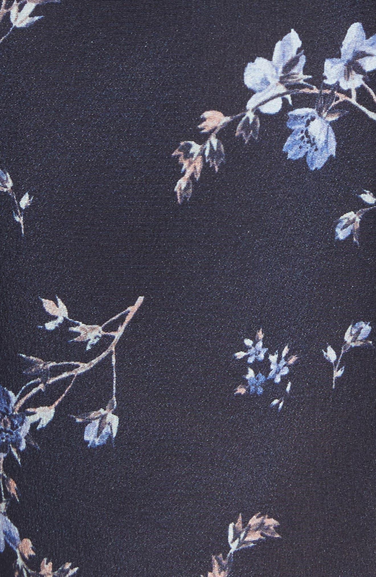 Alternate Image 5  - Rebecca Taylor Francine Floral Silk Shorts