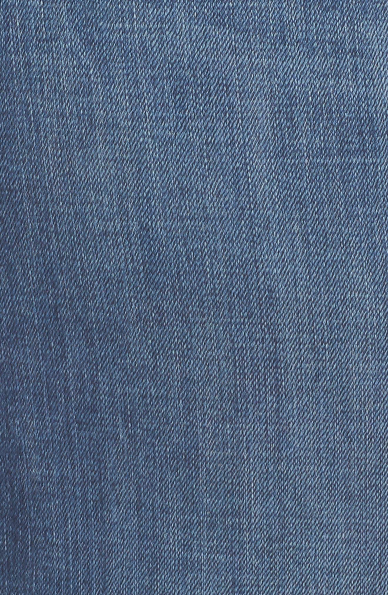 Emma Crop Skinny Jeans,                             Alternate thumbnail 6, color,                             Sunbeam-P