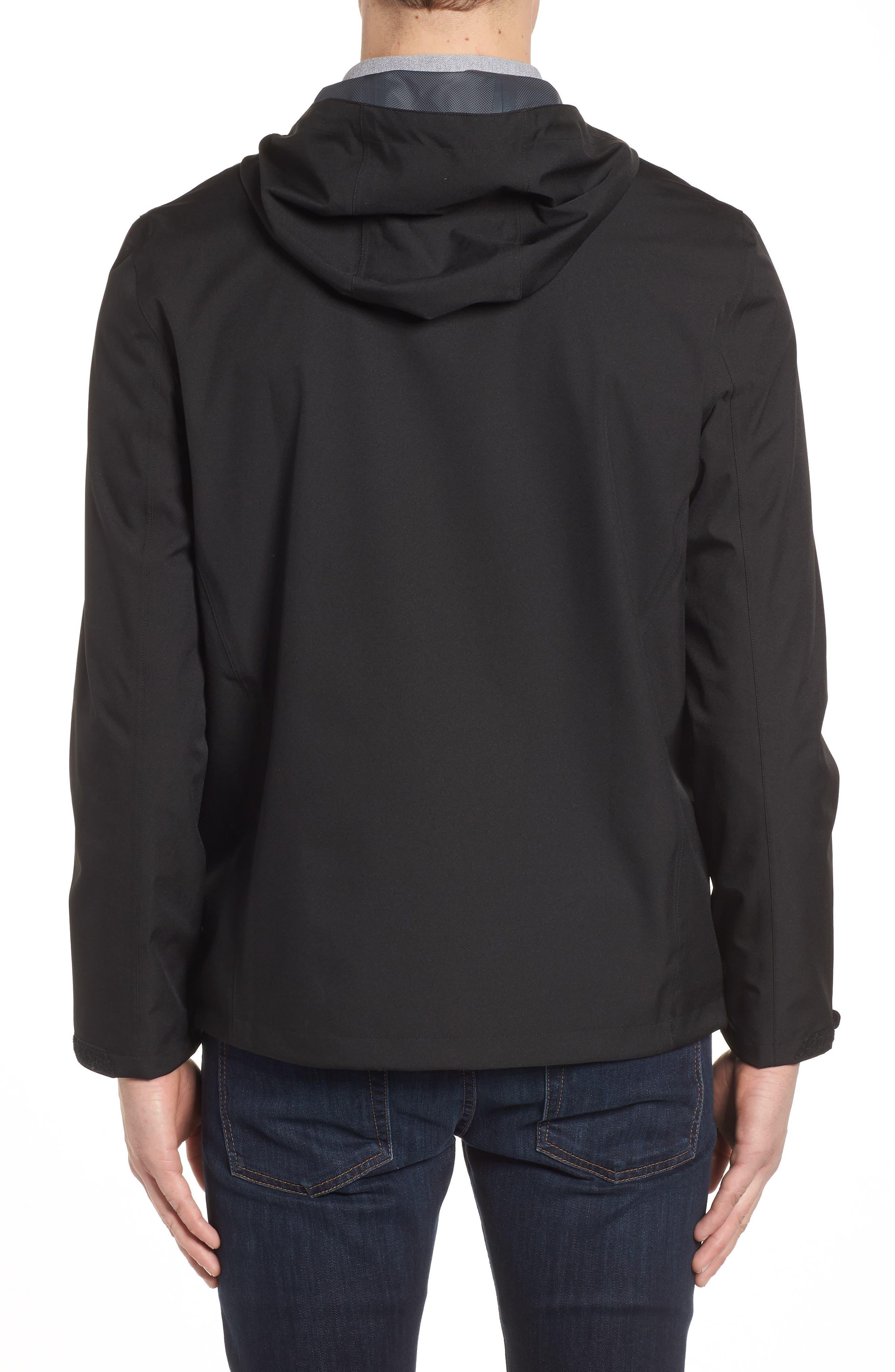 Seam Sealed Packable Jacket,                             Alternate thumbnail 2, color,                             Black