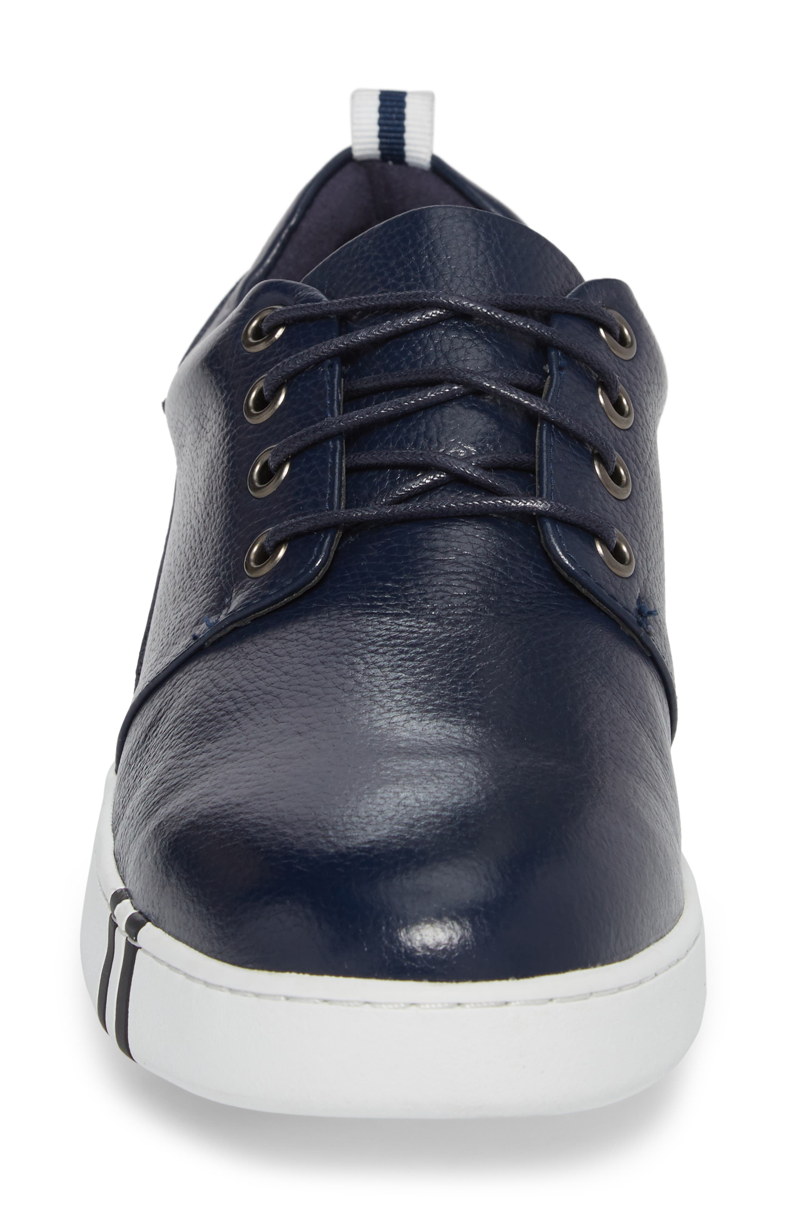 Kings Low Top Sneaker,                             Alternate thumbnail 4, color,                             Navy Leather