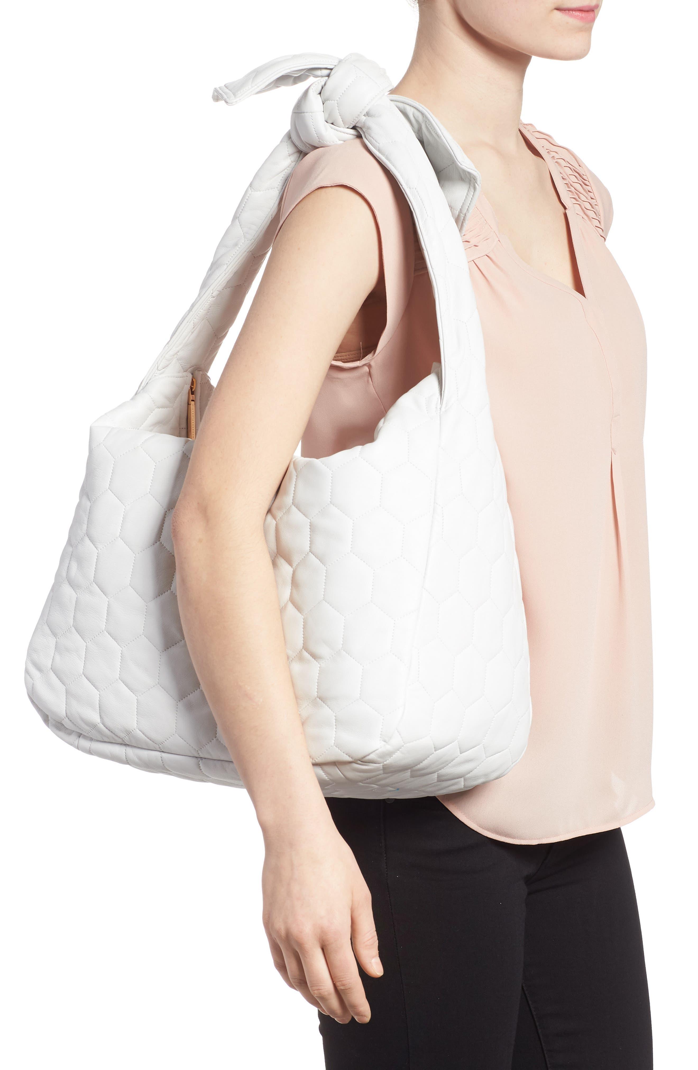 Balloon Leather Shoulder Bag,                             Alternate thumbnail 2, color,                             White