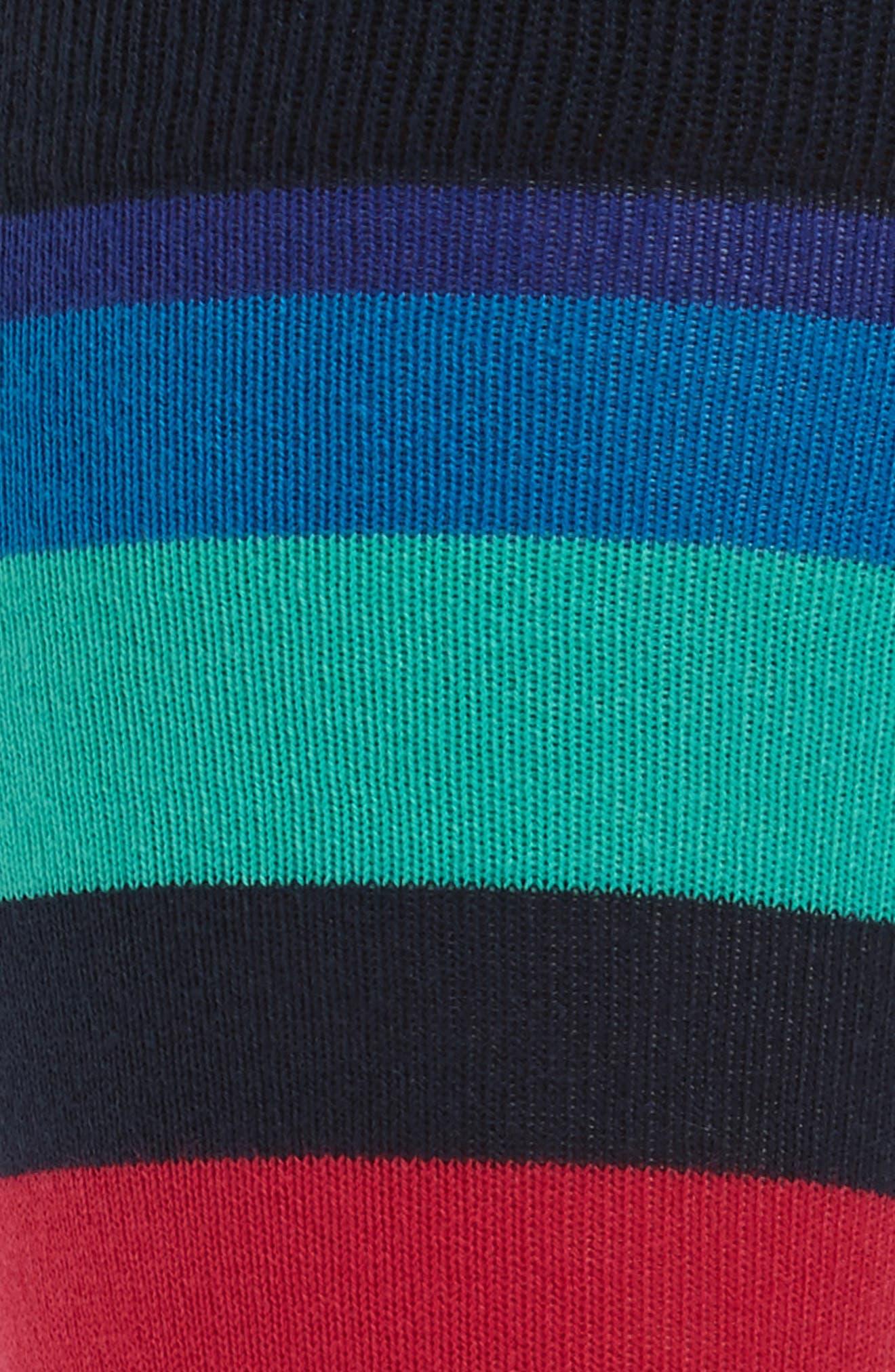 Stripe Socks,                             Alternate thumbnail 2, color,                             Blue Multi