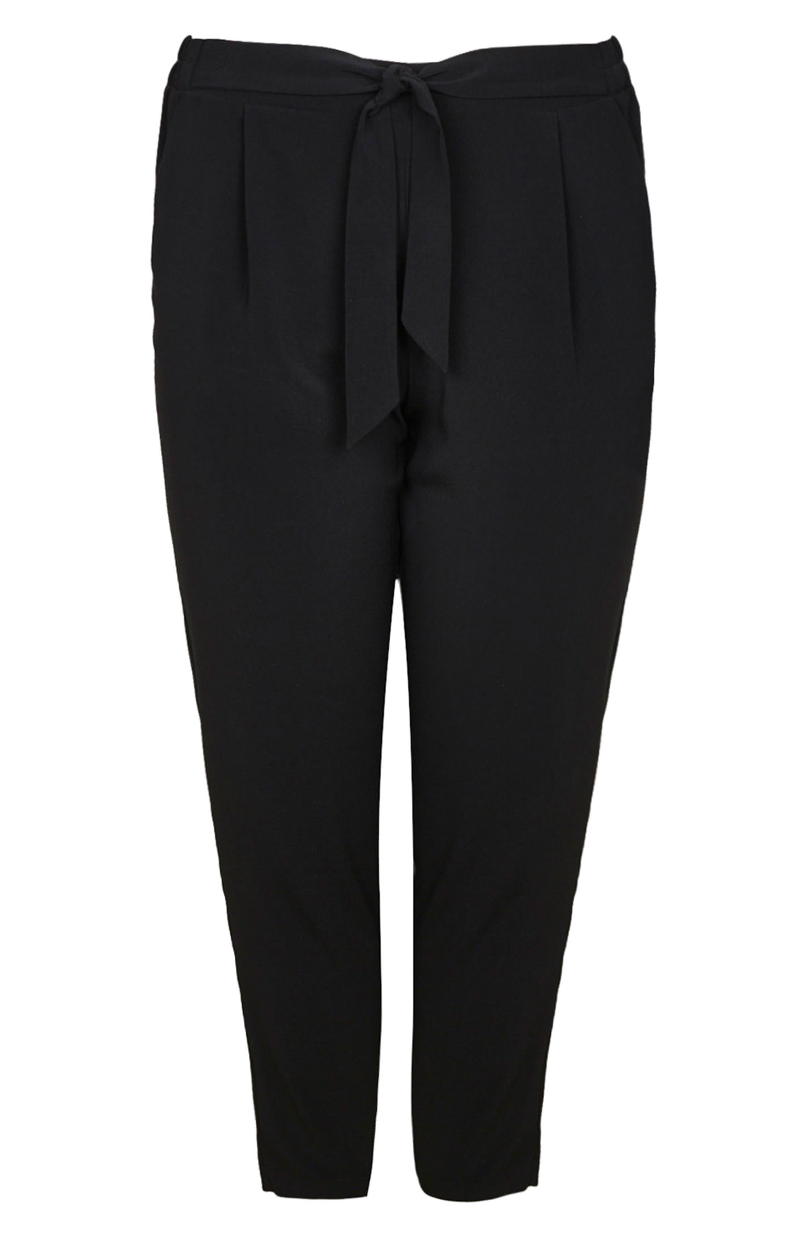 Ripple Tapered Pants,                             Alternate thumbnail 4, color,                             Black