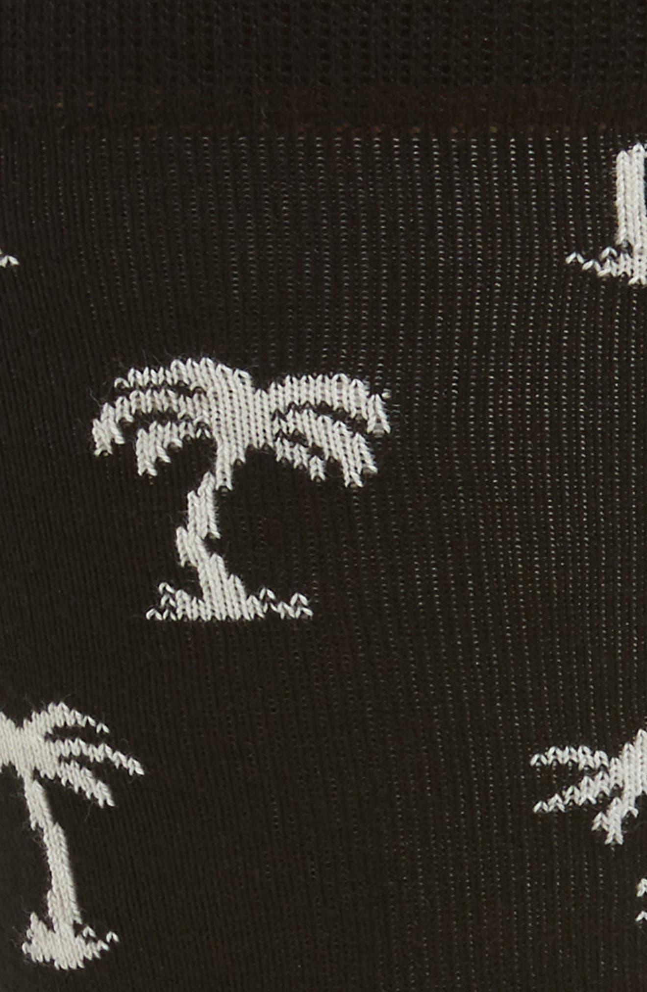 Palm Beach Crew Socks,                             Alternate thumbnail 2, color,                             Black/ White