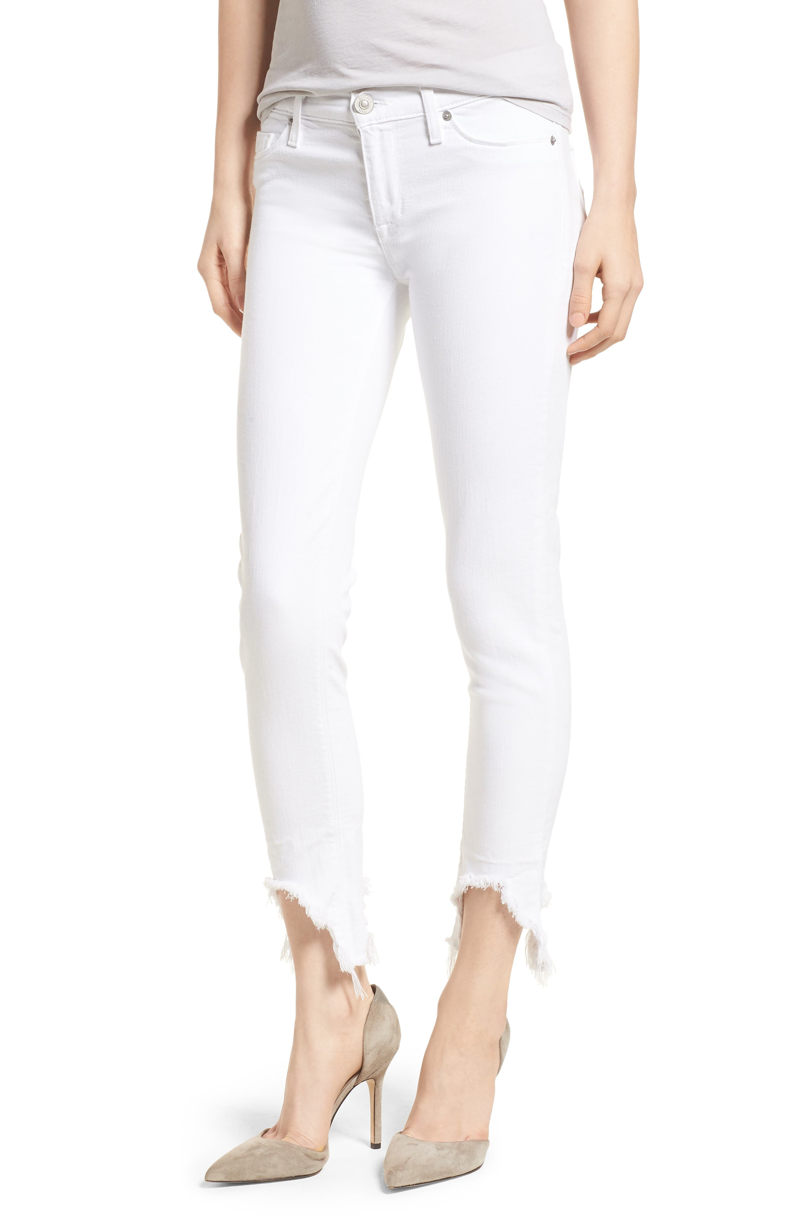 Tally Ankle Skinny Jeans,                         Main,                         color, Destroyed Optical White