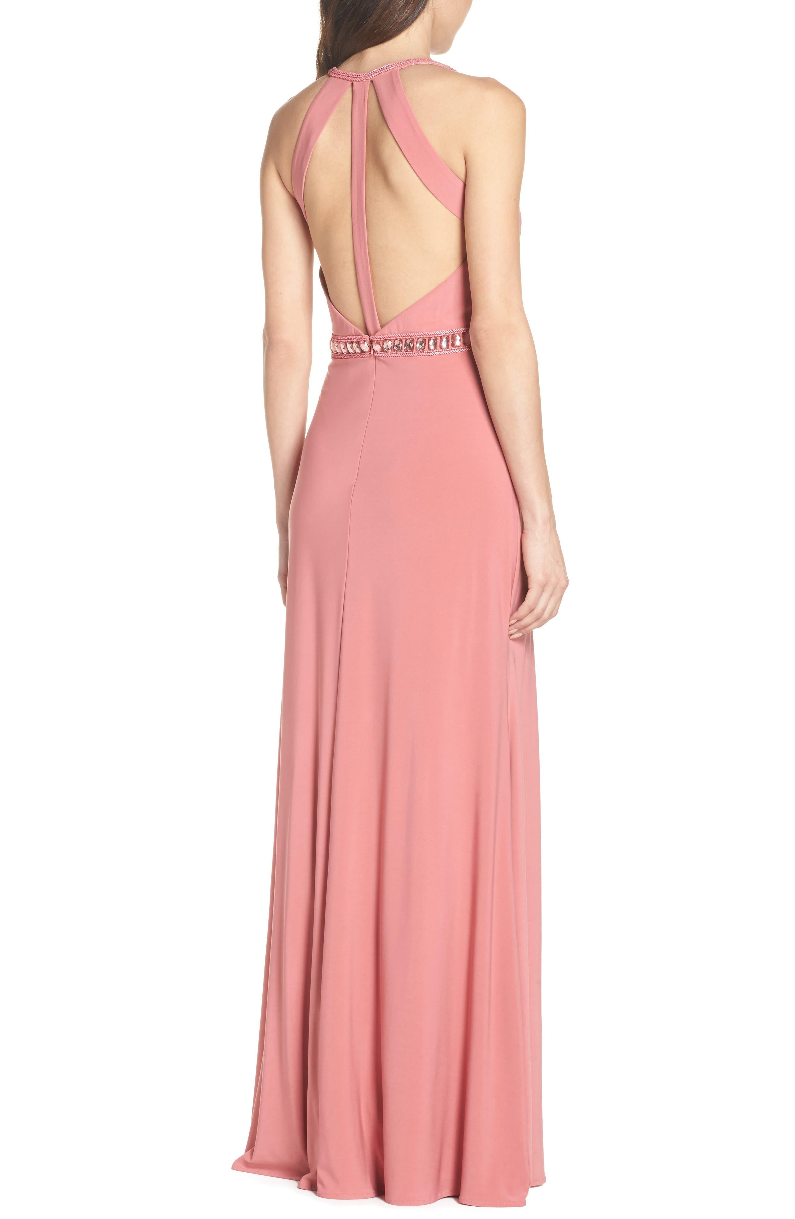 Sparkle Waist Gown,                             Alternate thumbnail 2, color,                             Rose Pink