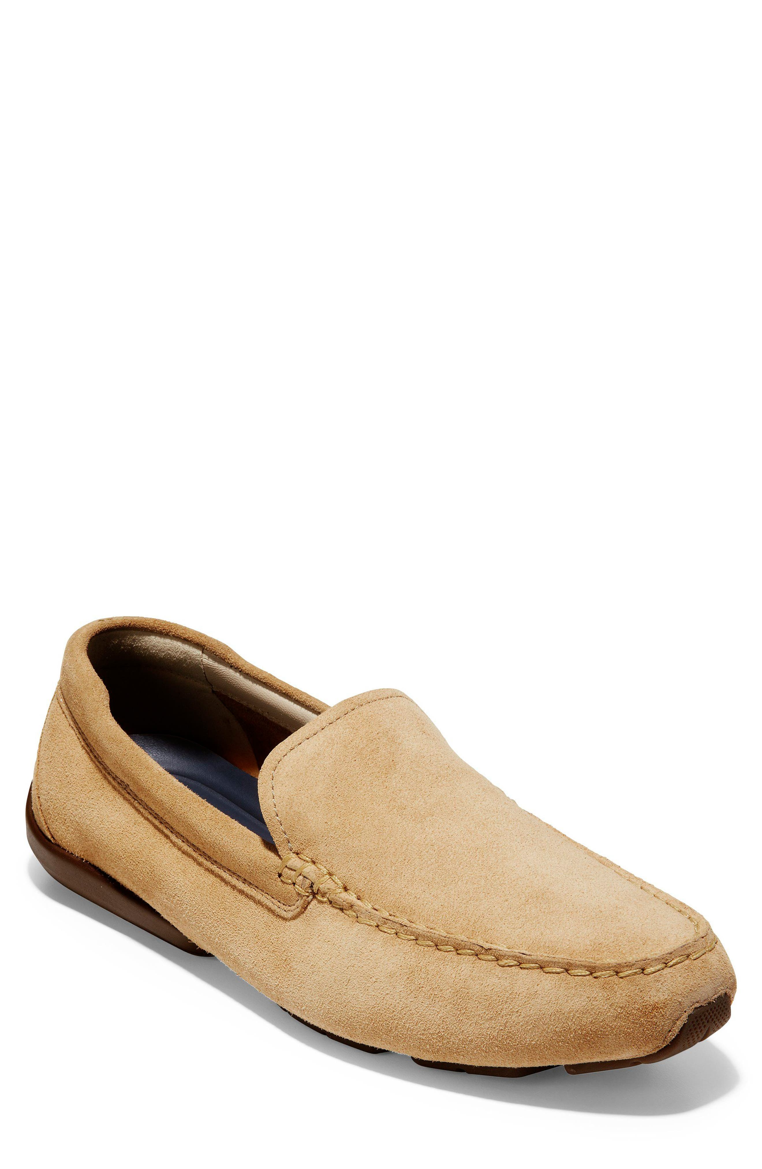 Branson Driving Shoe,                         Main,                         color, Iced Coffee Suede