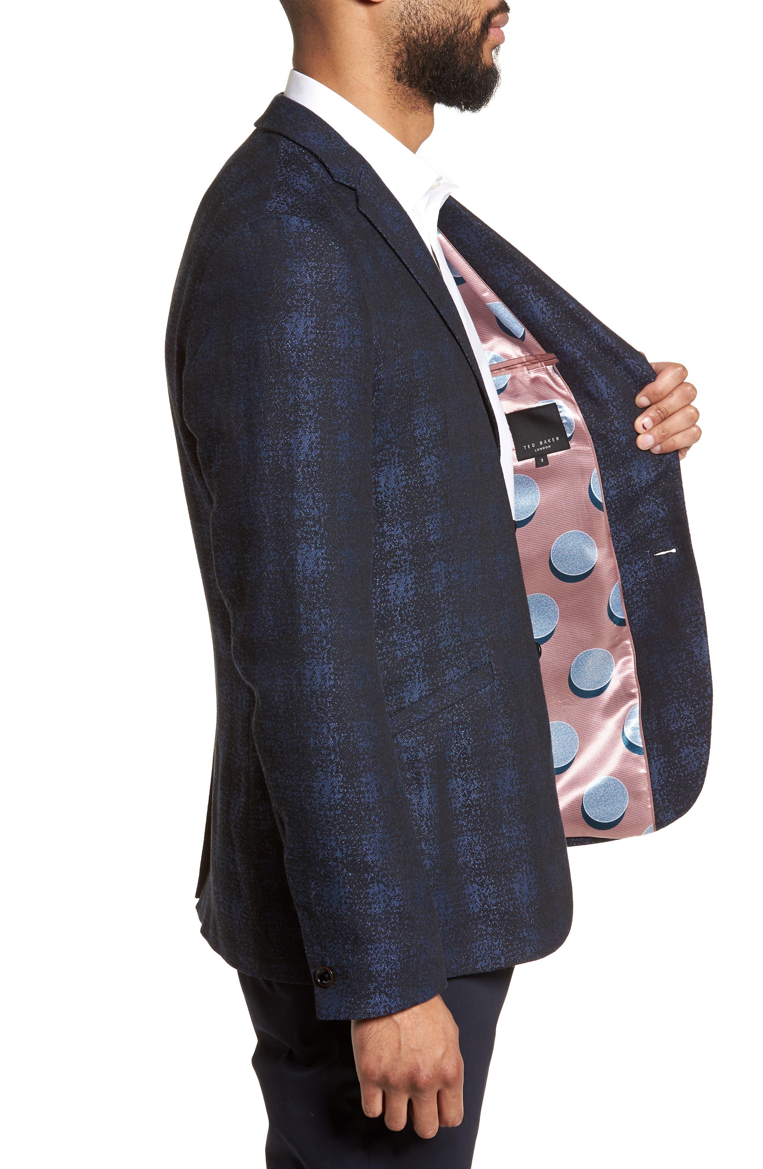 Alternate Image 3  - Ted Baker London Dors Trim Fit Check Blazer