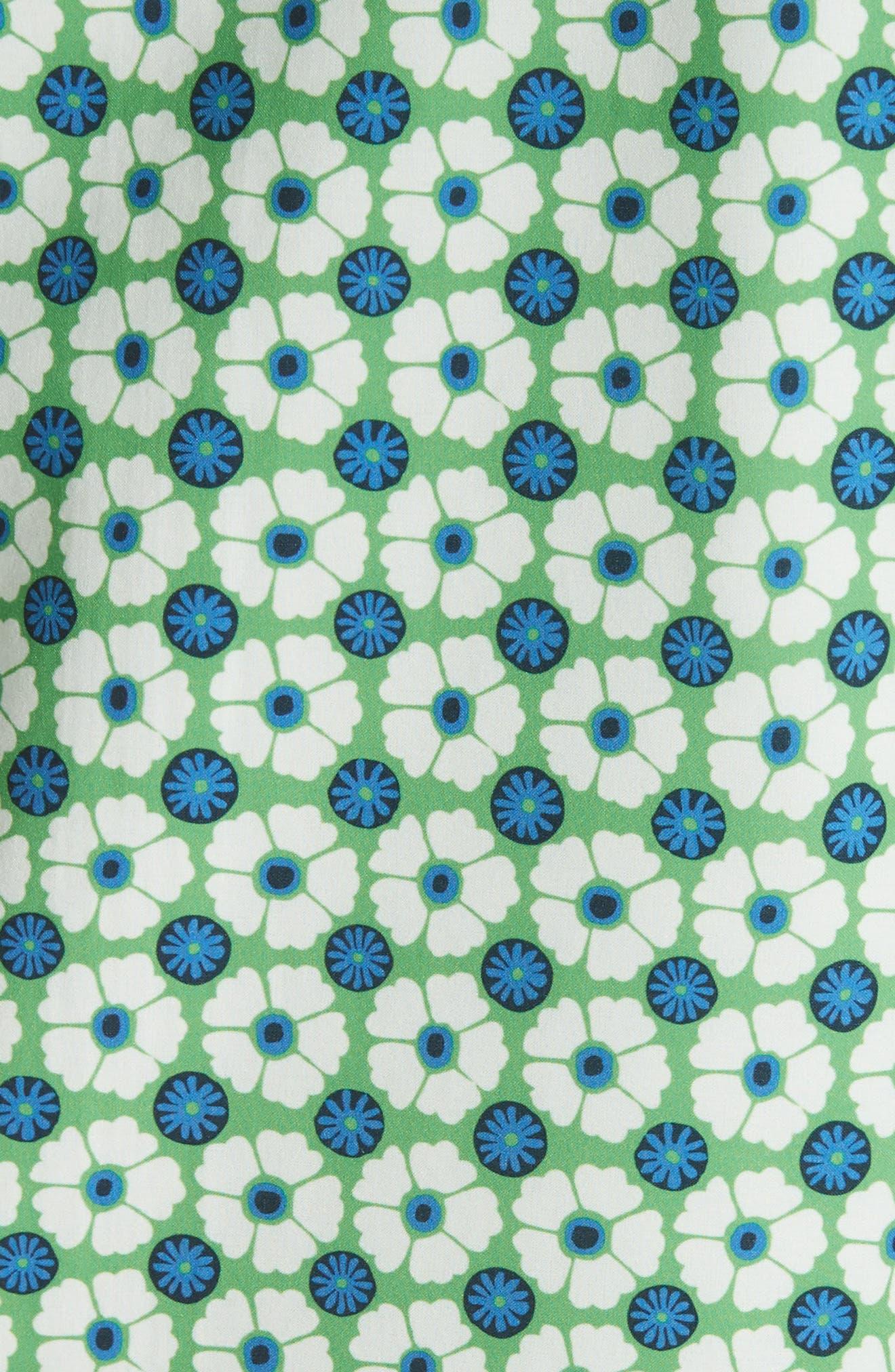 Print Packable Jacket,                             Alternate thumbnail 5, color,                             Scarf Blue Floral