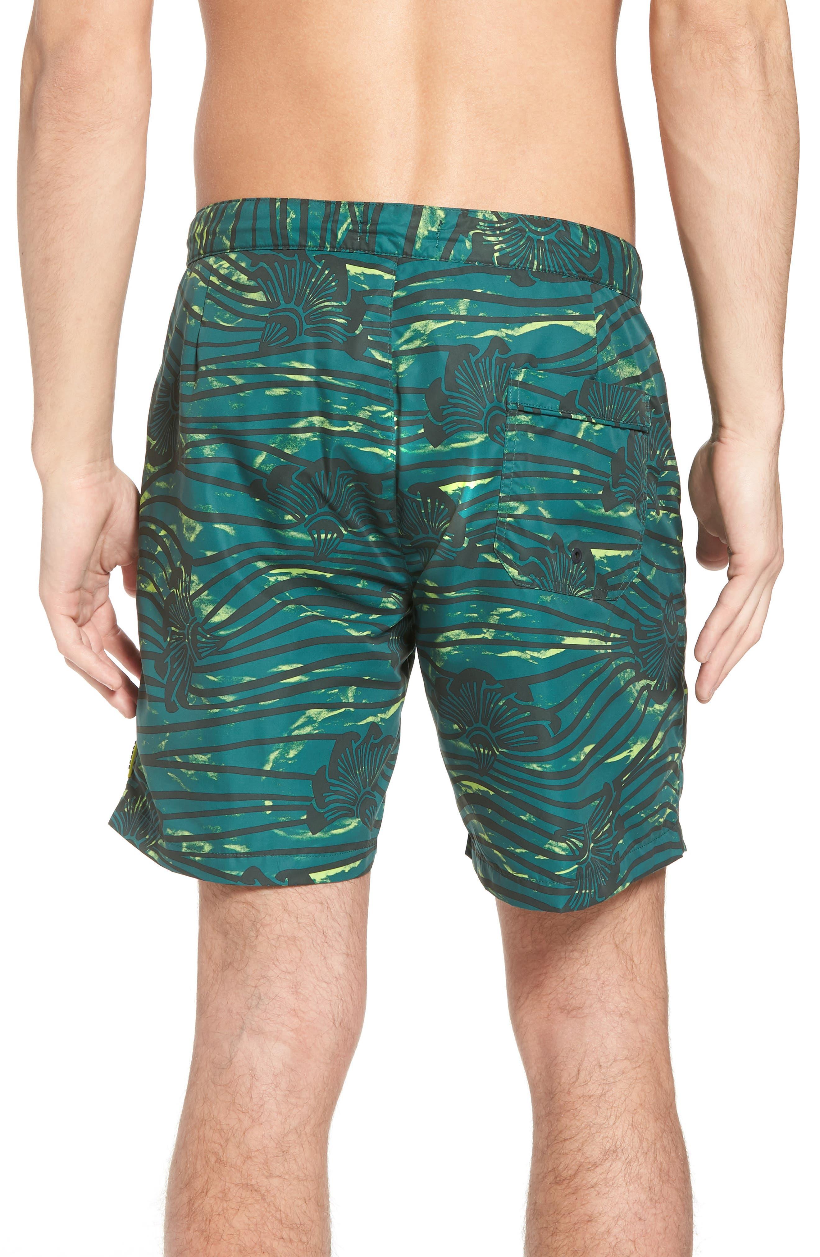 Patterned Board Shorts,                             Alternate thumbnail 2, color,                             Combo E