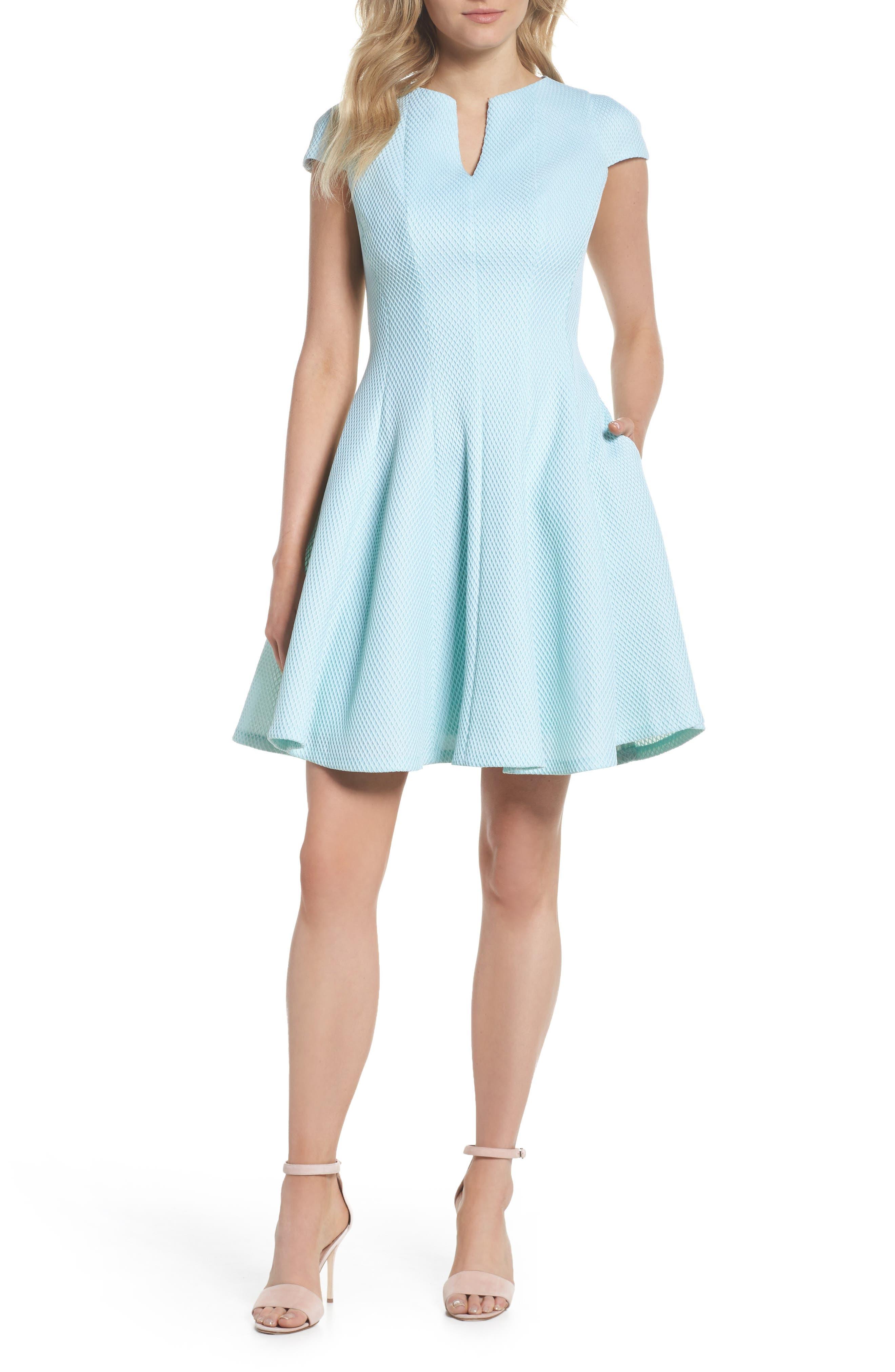 Fit & Flare Dress,                         Main,                         color, Mint