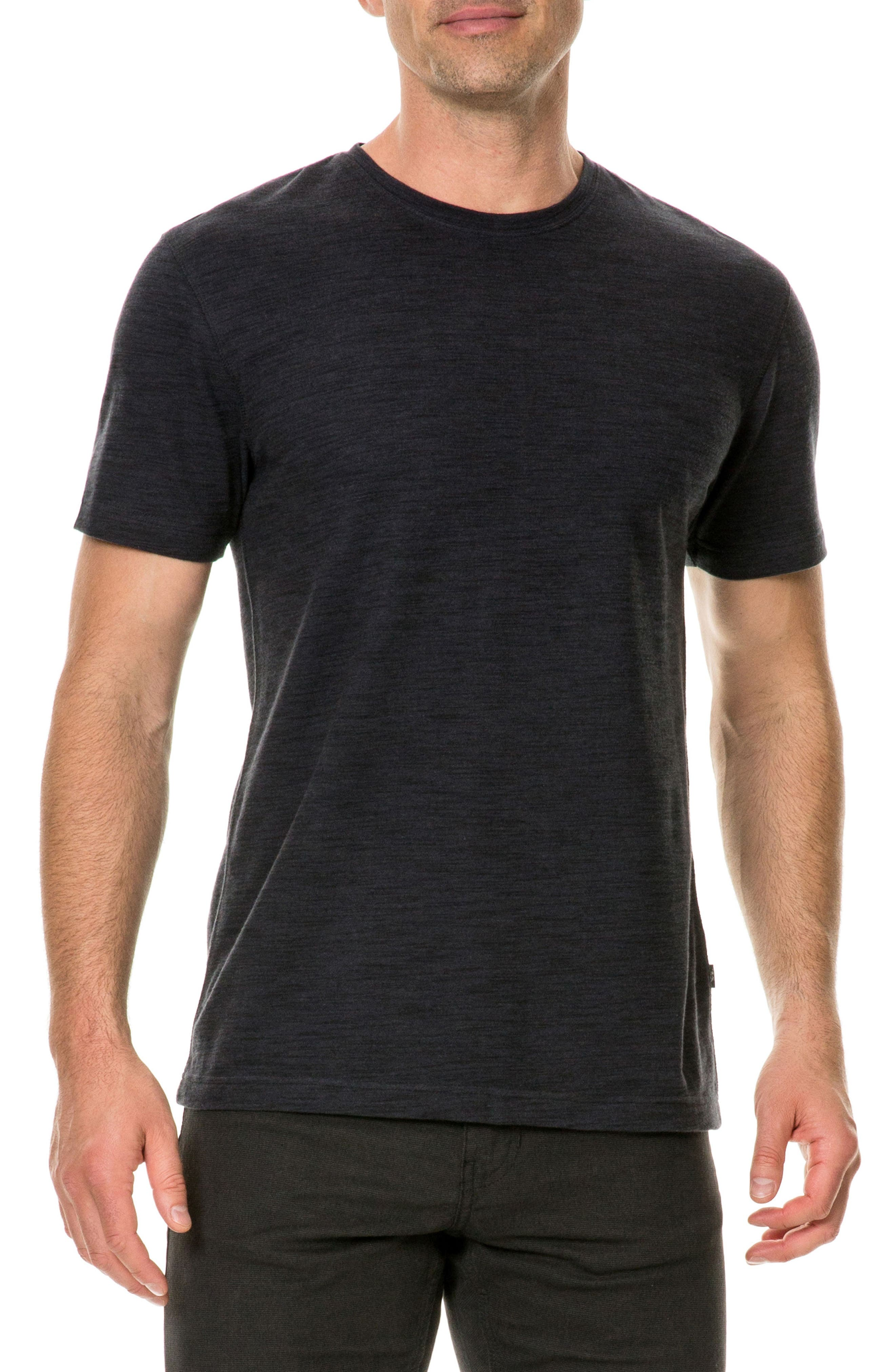Stafford Regular Fit Slub Knit T-Shirt,                             Main thumbnail 1, color,                             Gunpowder