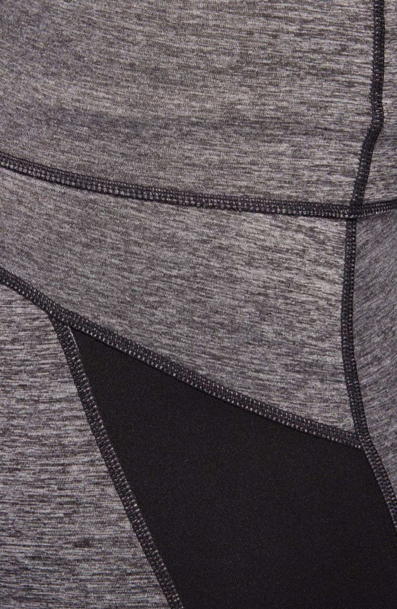 VFA Climalite<sup>®</sup> High Waist Tights,                             Alternate thumbnail 4, color,                             Black