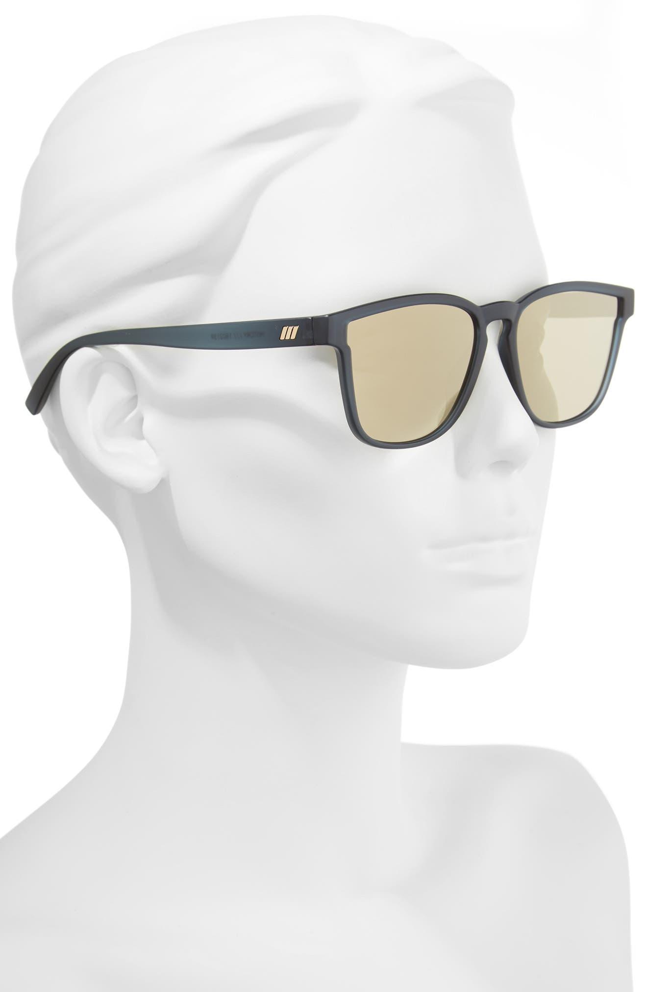 History 53mm Modern Rectangle Sunglasses,                             Alternate thumbnail 3, color,                             Matte Midnight